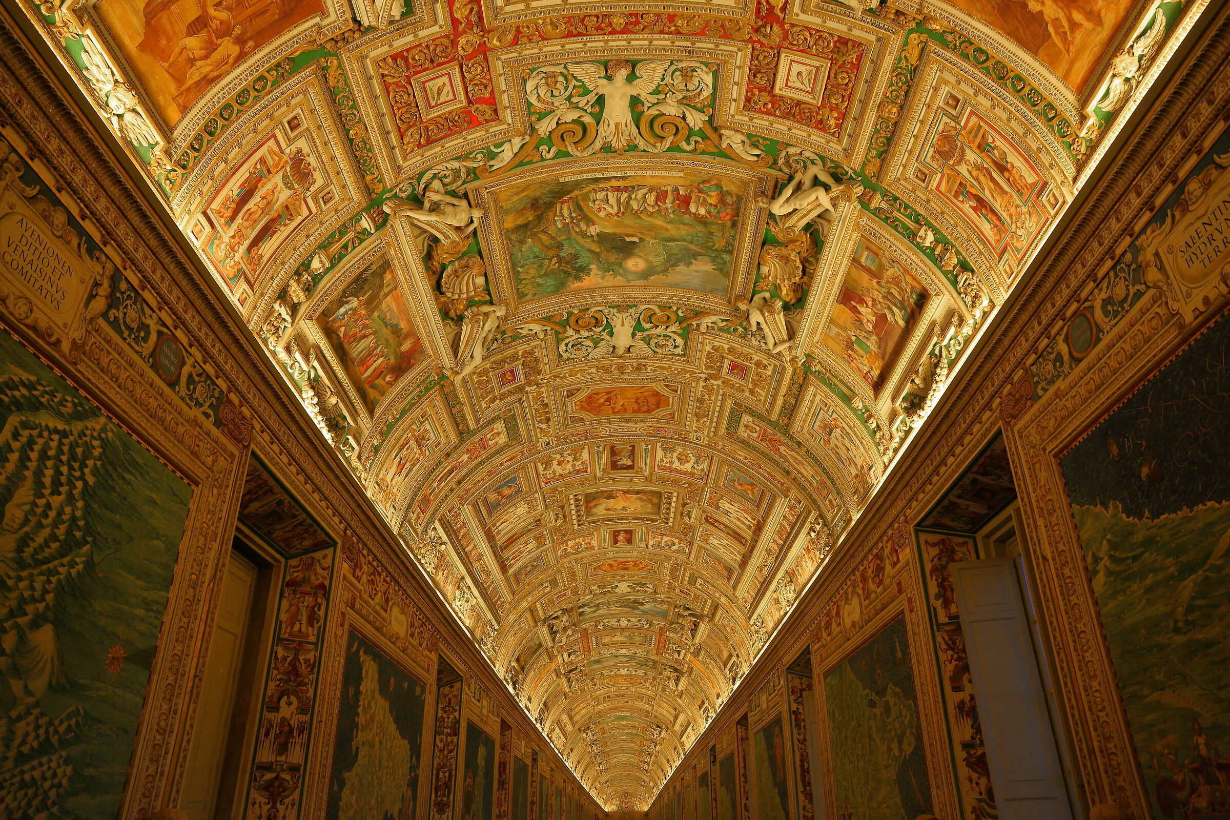 Gallery of Maps at the Vatican Museums...