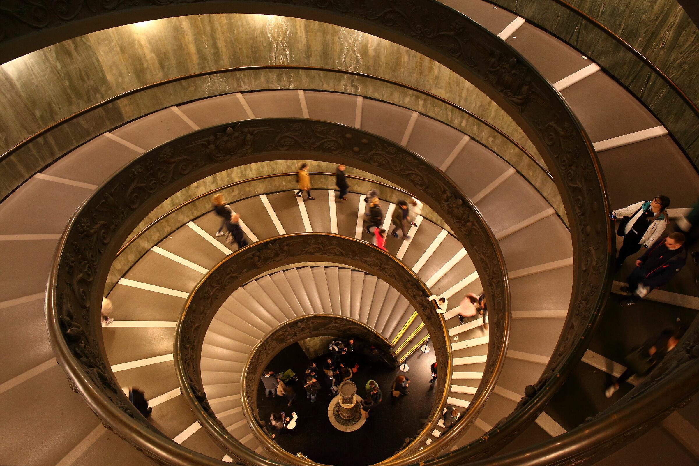 Scala elicoidale ai Musei Vaticani...