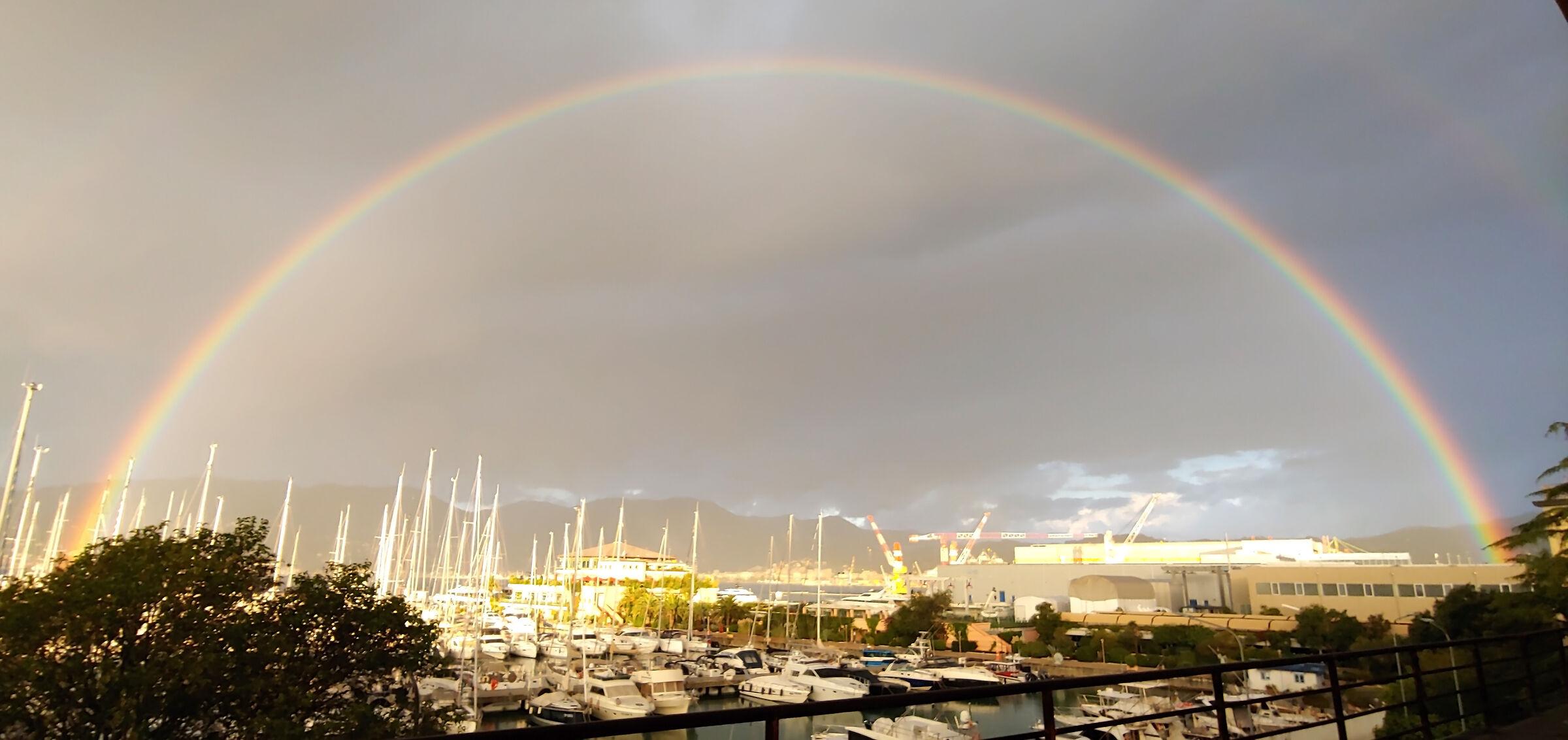 Rainbow on the Gulf of Spice...