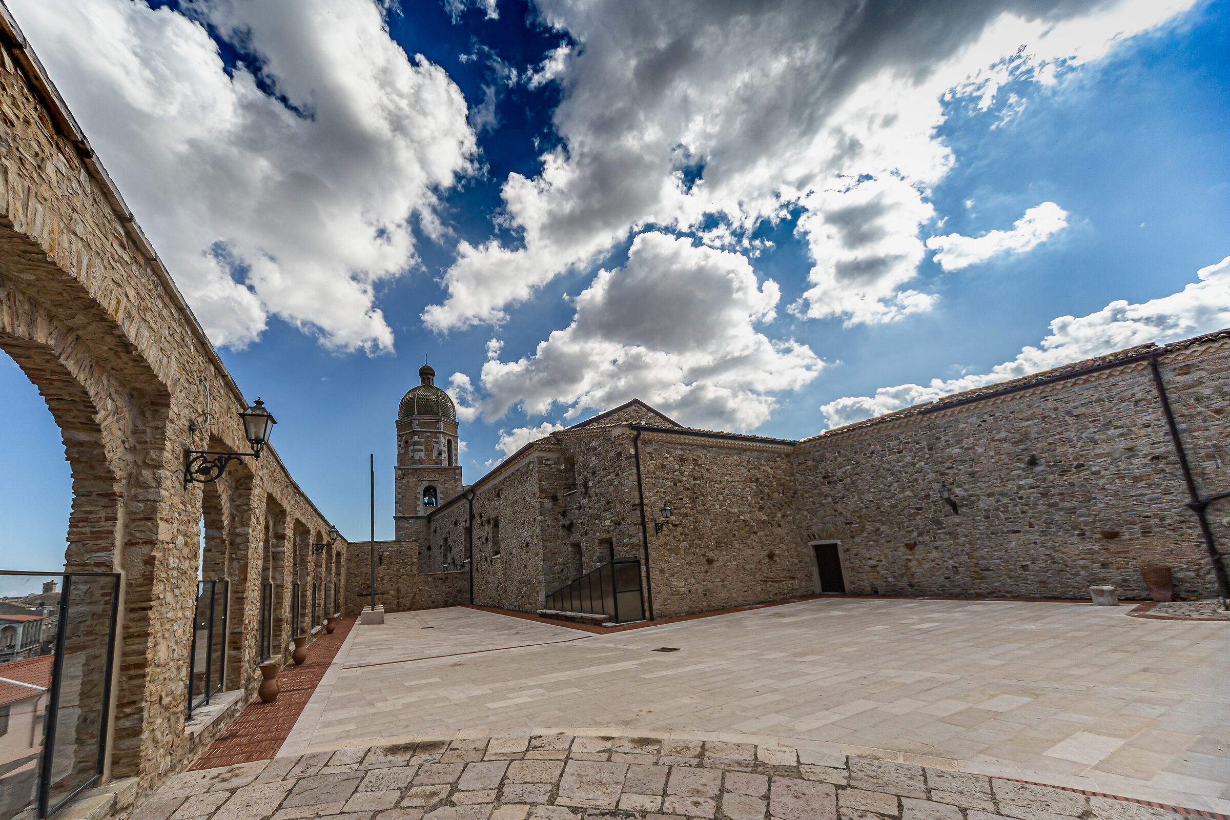 Clouds over stone, Pietramontecorvino, Italy...