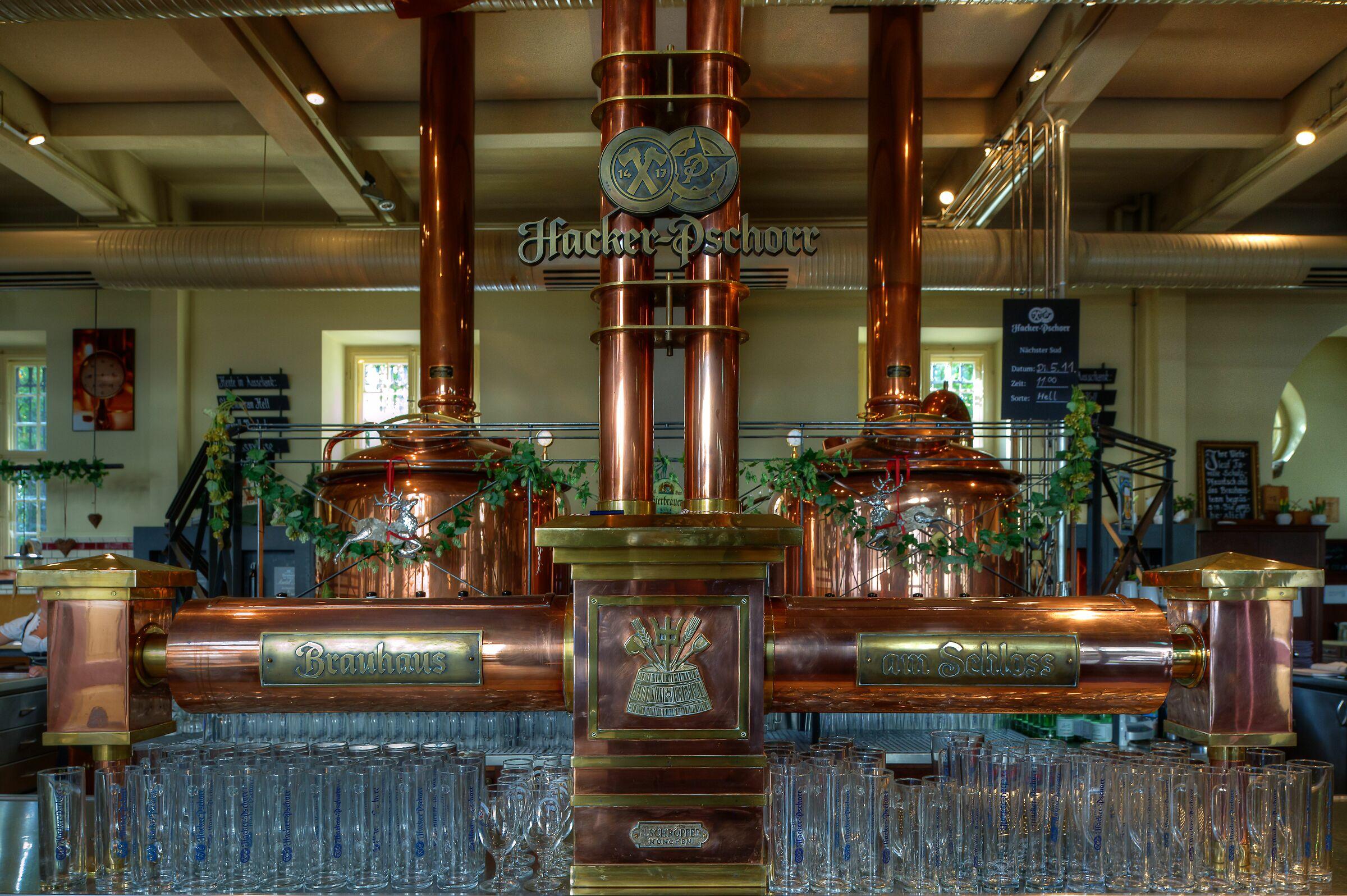 Beer Brewing Kettles, Regensburg, Germany...