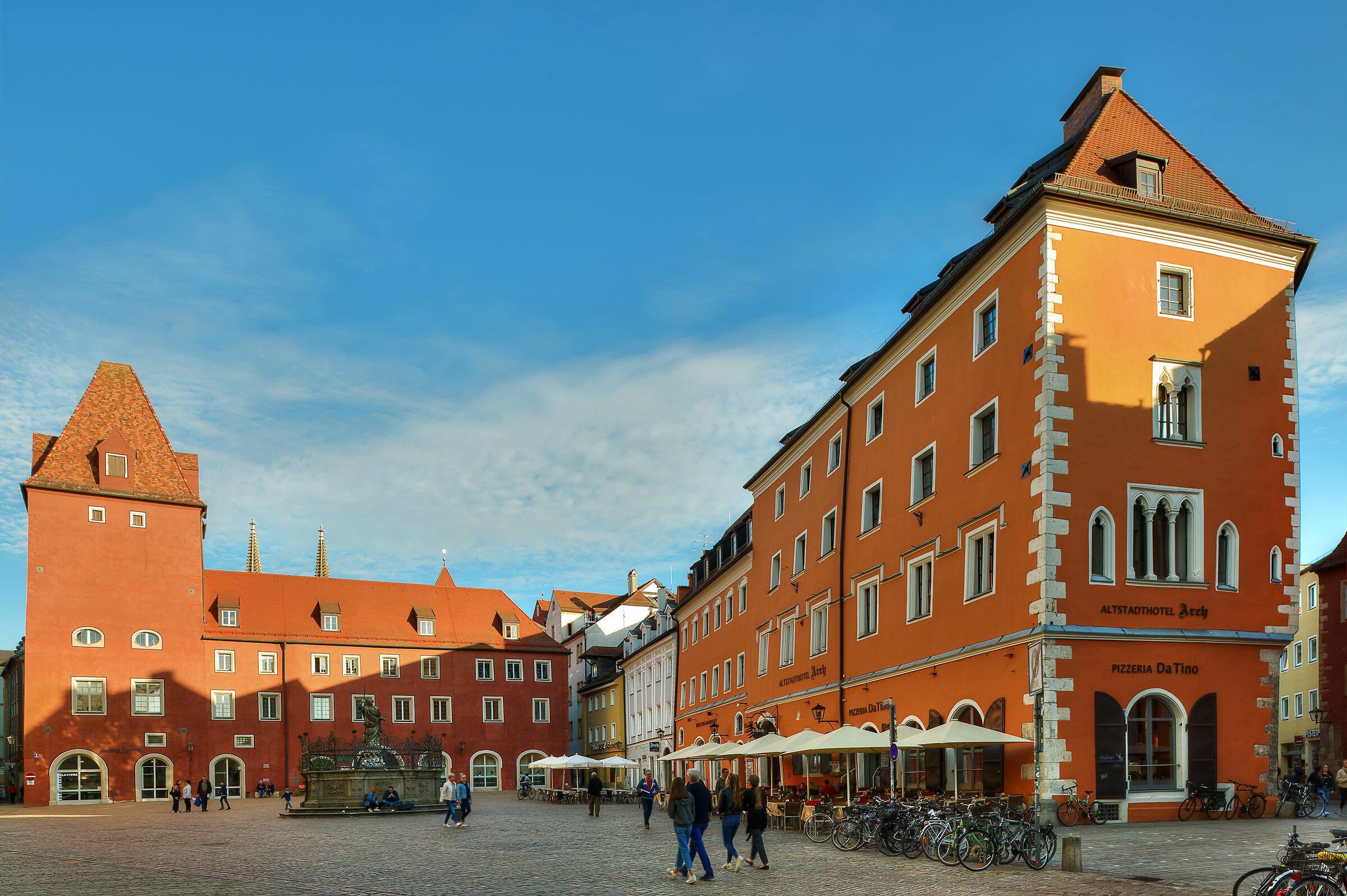 Central Square; Regensburg, Germany...
