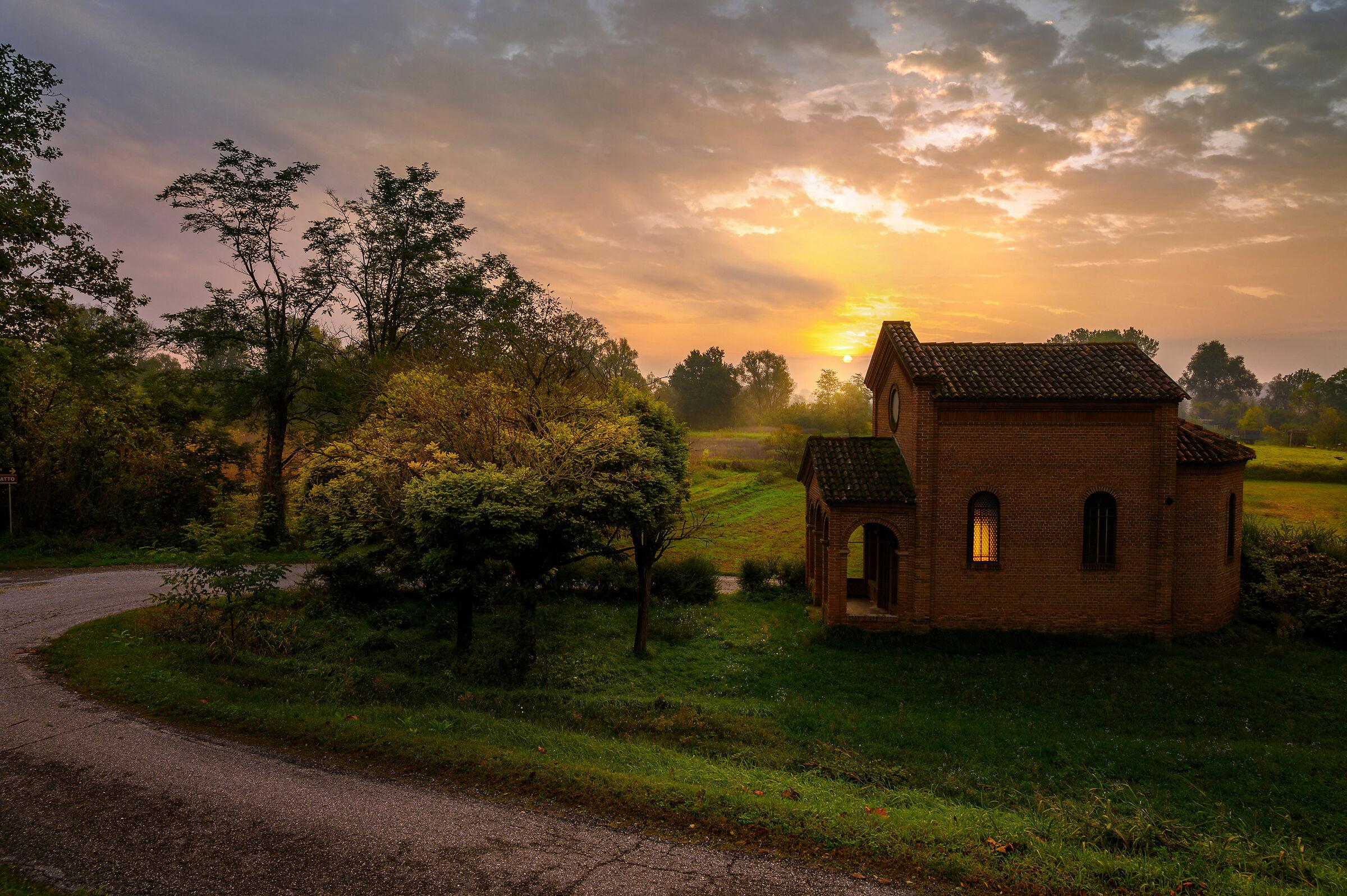Dawn at the sanctial...
