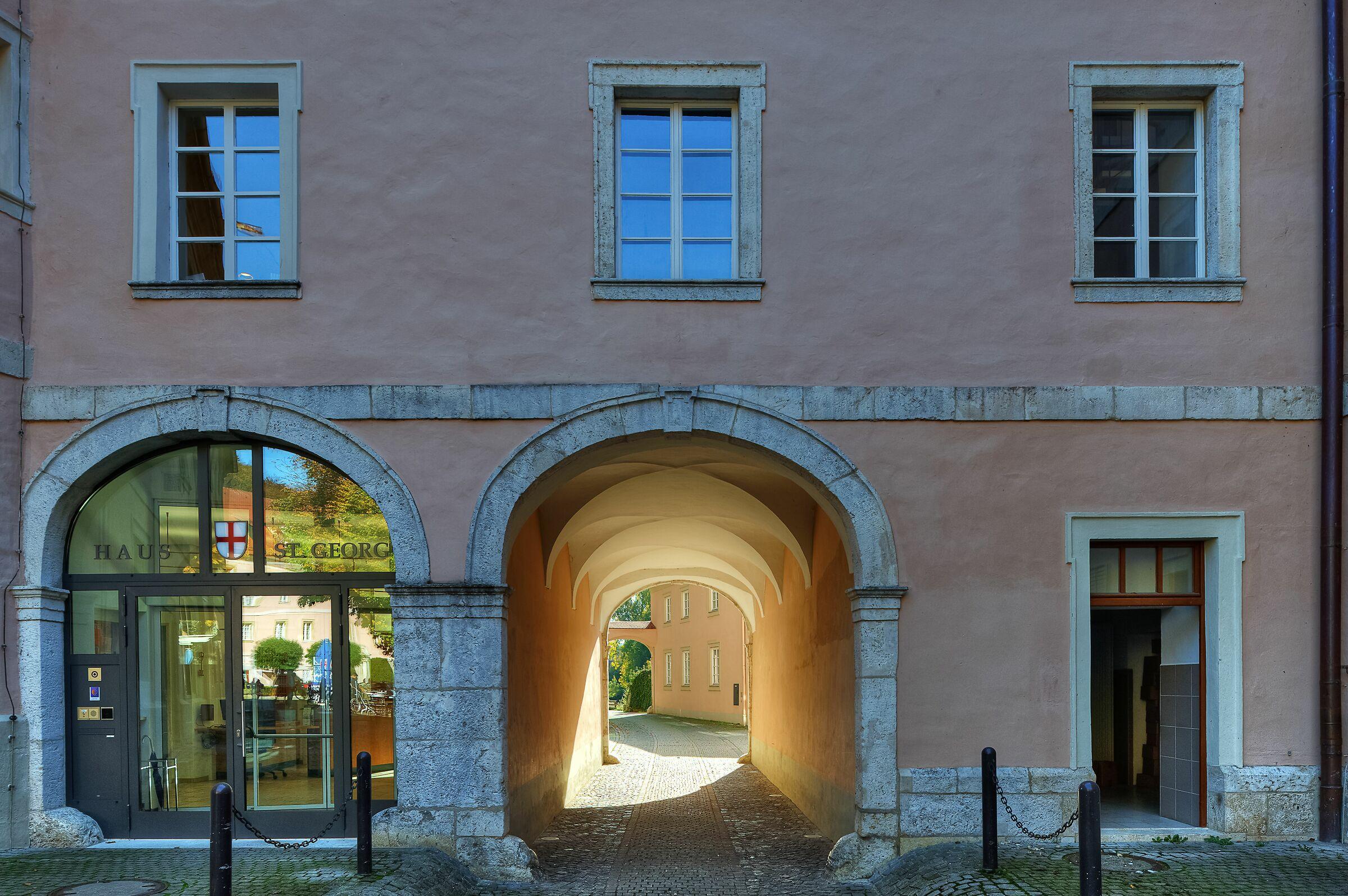 Thoroughfare; Weltenburg Monastery, Germany...