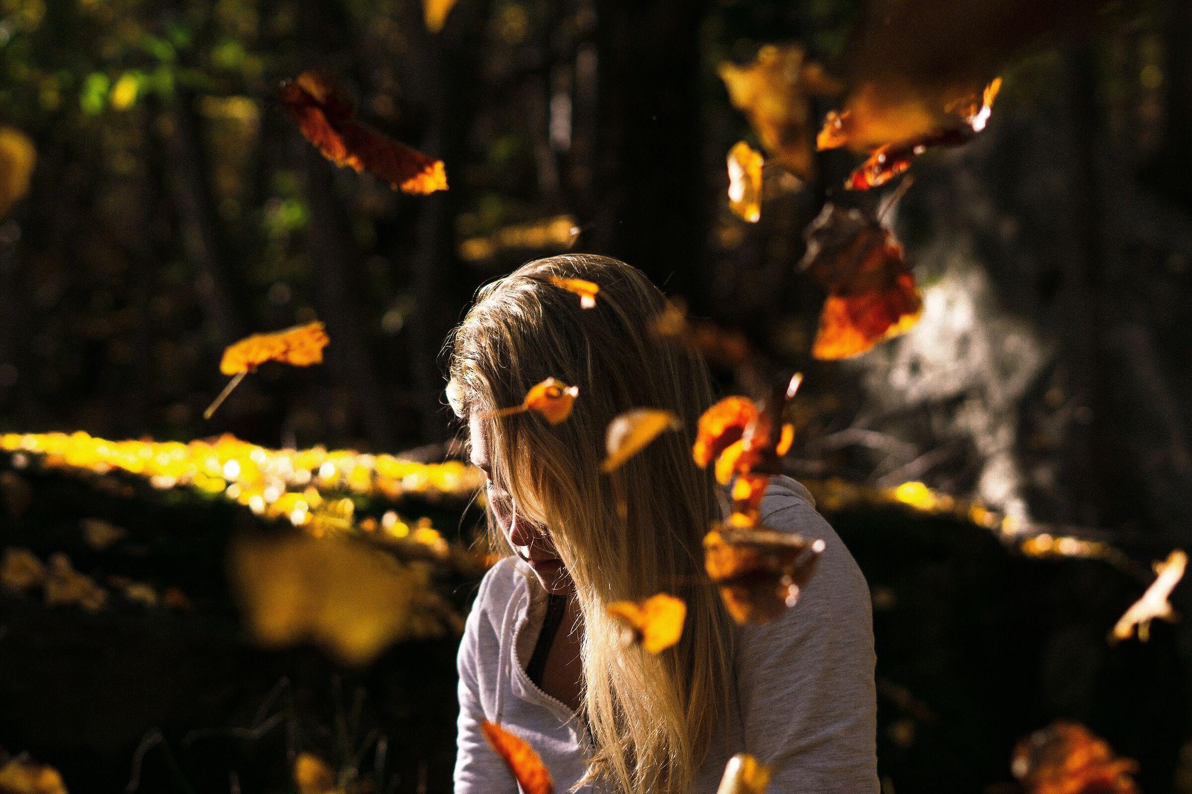 La bionda e l'autunno...