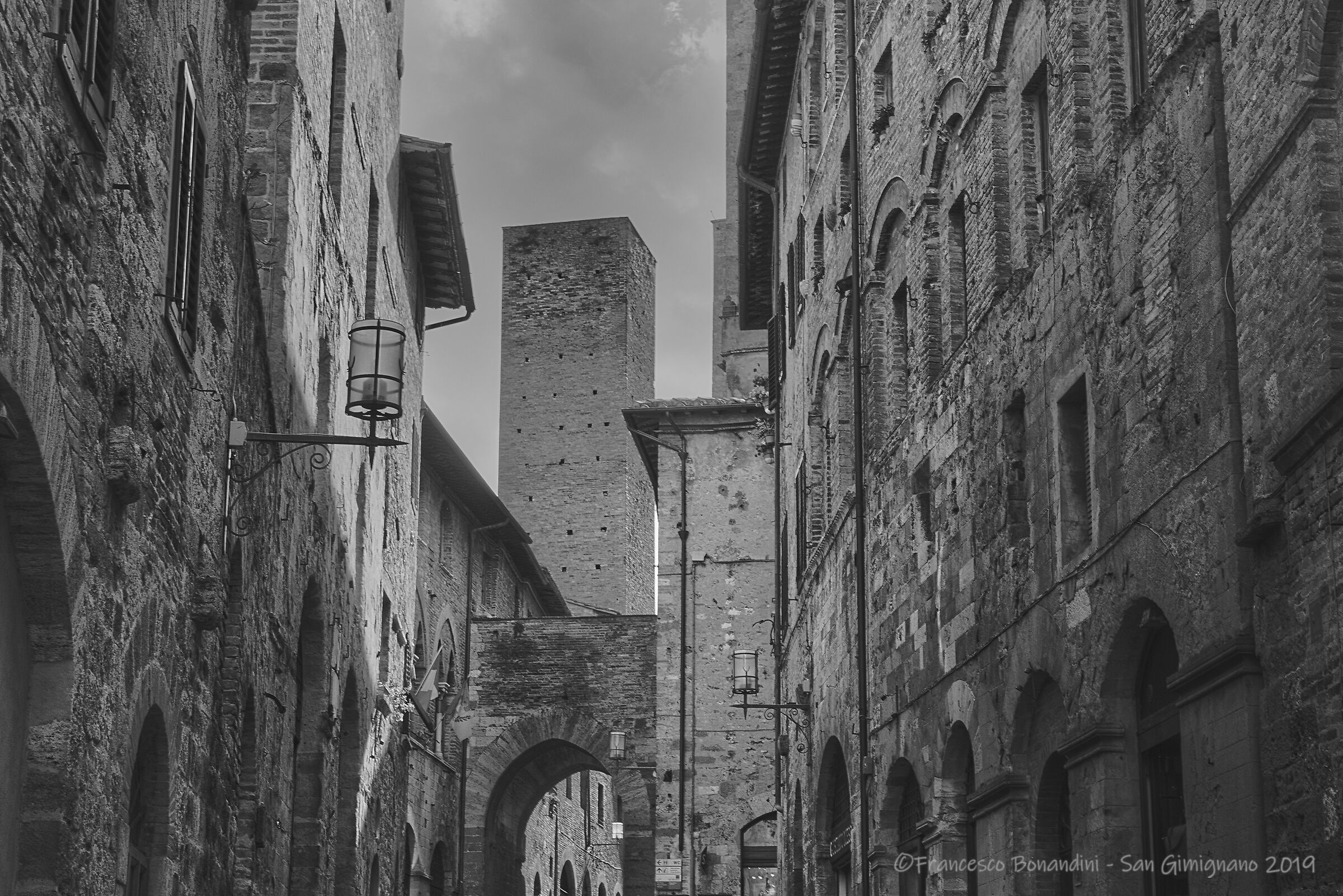 On the streets of San Gimignano...