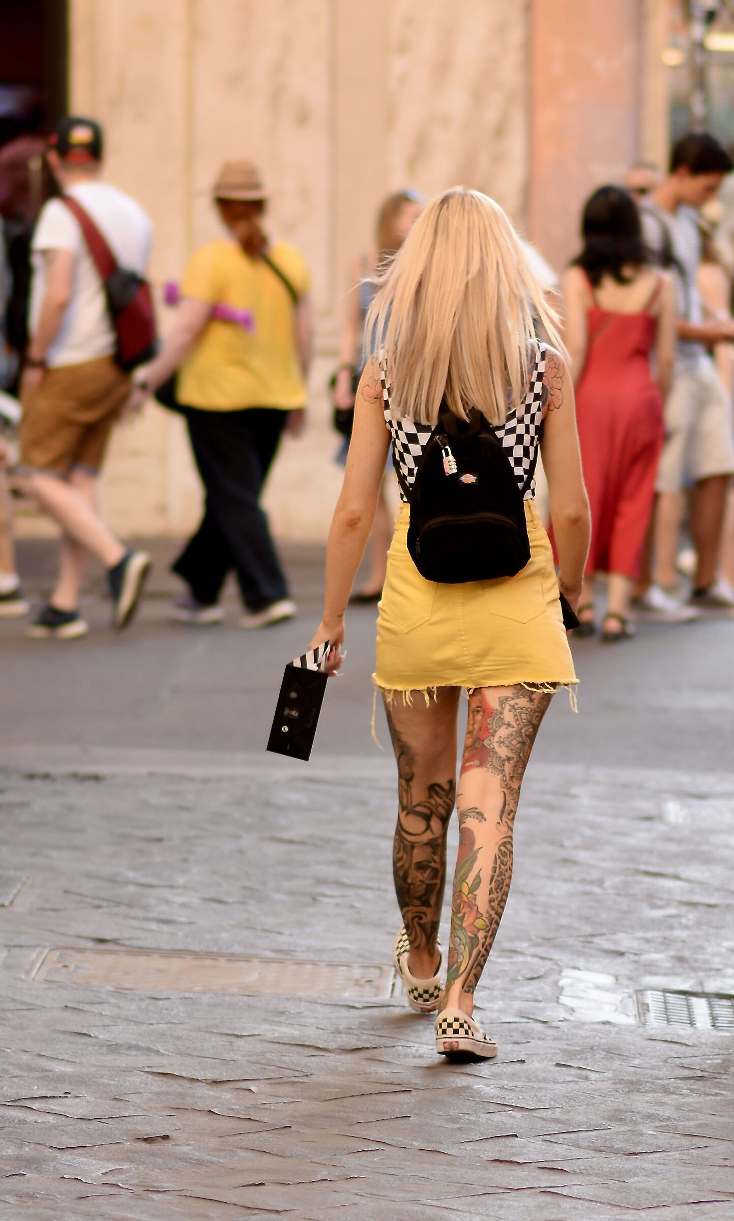 Tattooed girl...