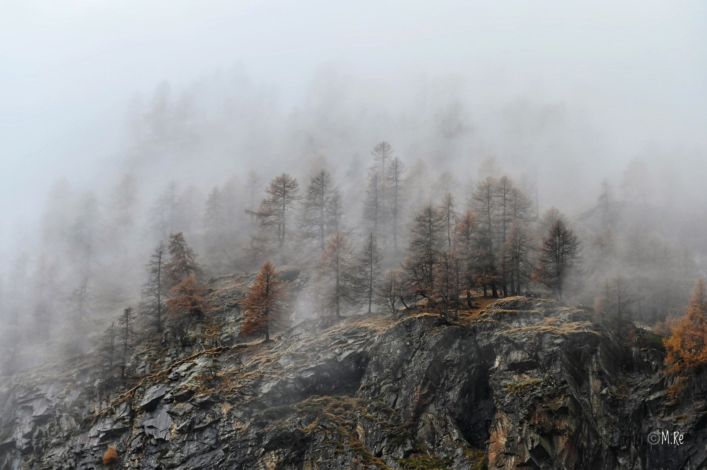Fog in the mountains...