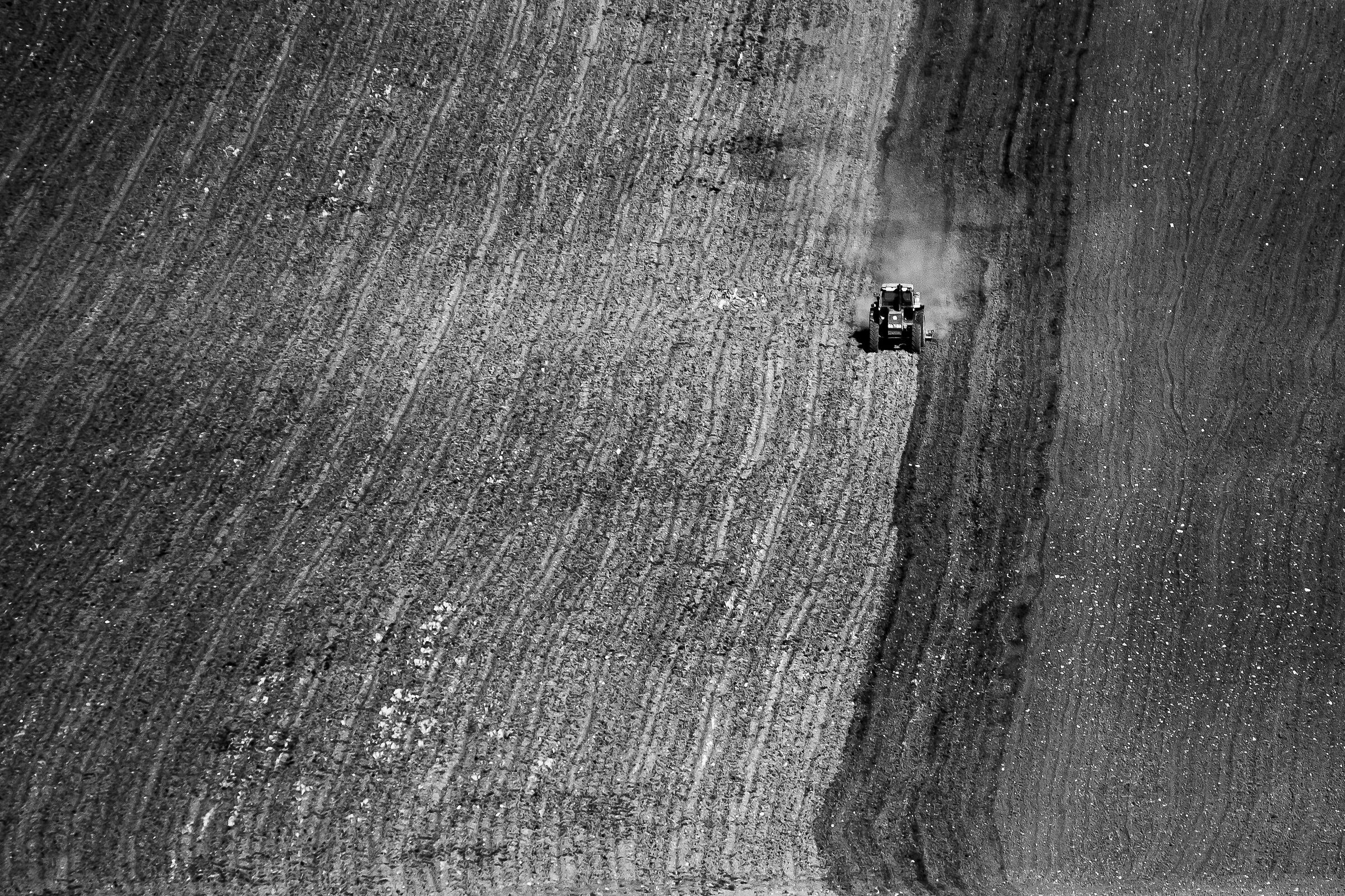 The loneliness of the tractor...