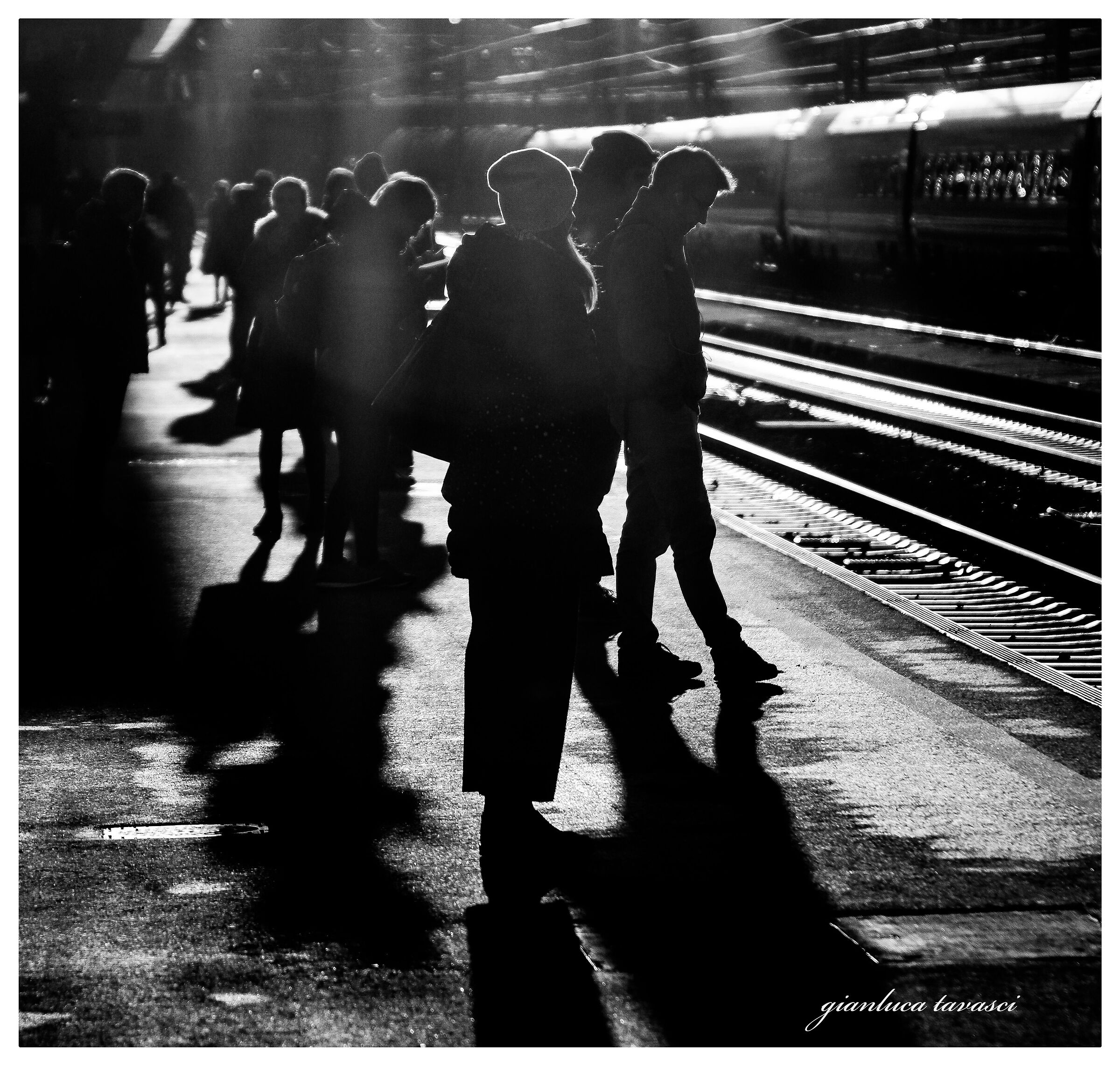 Early morning sun at the station...