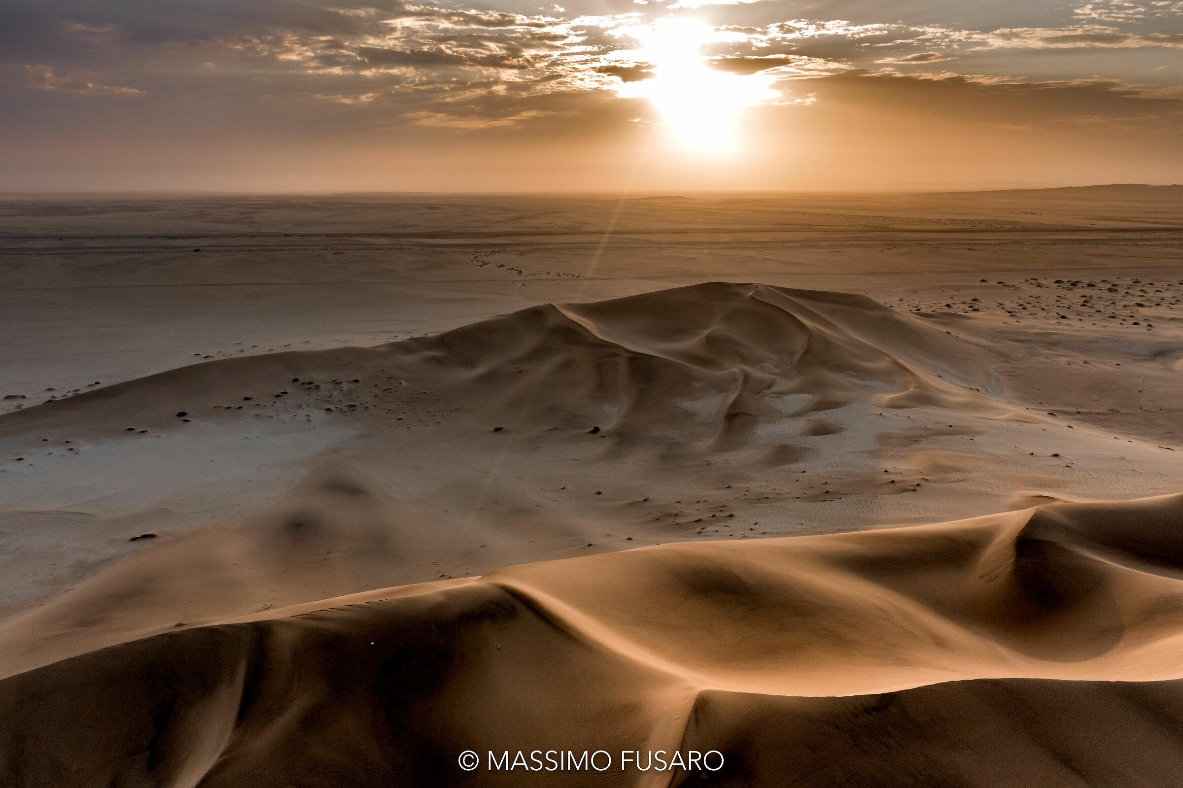 sunrise in the desert...