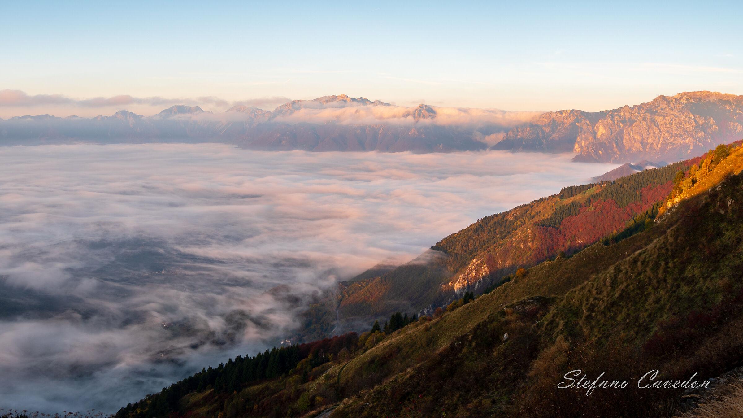 Alba sulle Piccole Dolomiti...