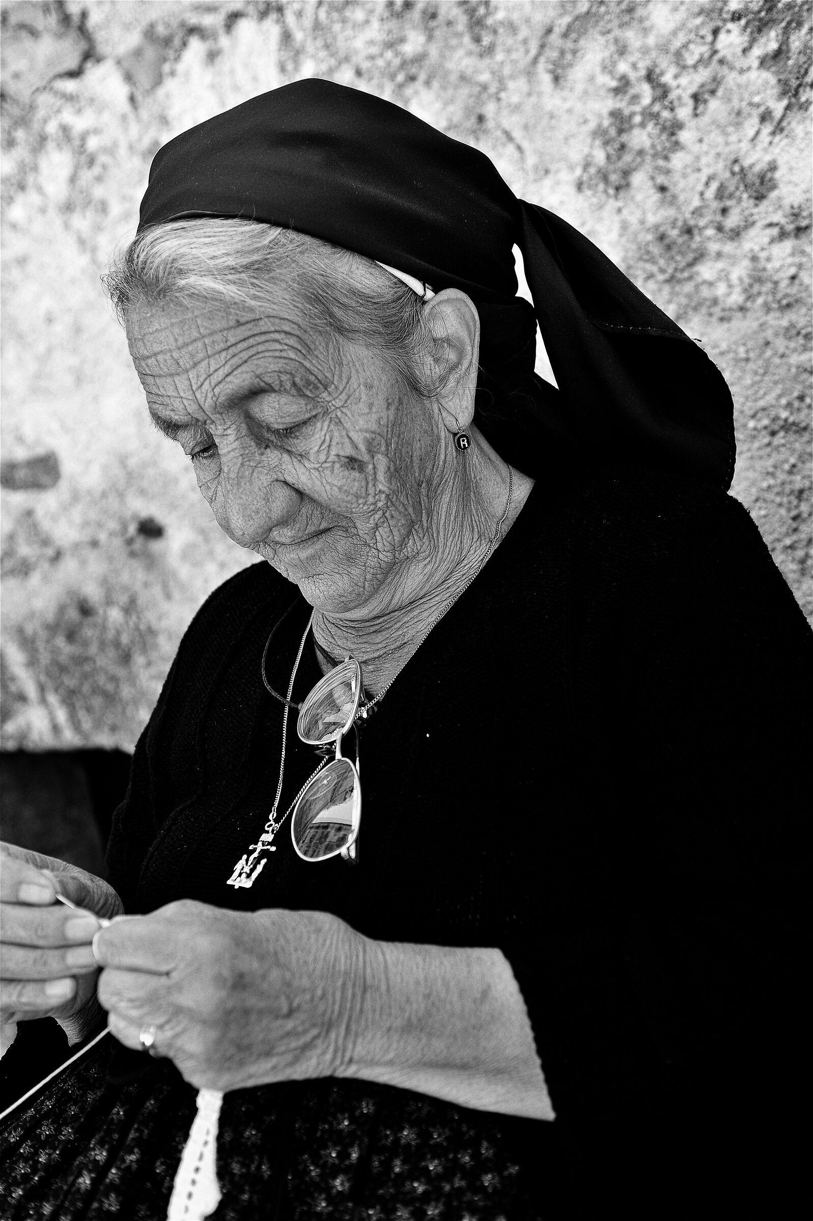 Elderly Embroiderer of Scanno (Aq)...