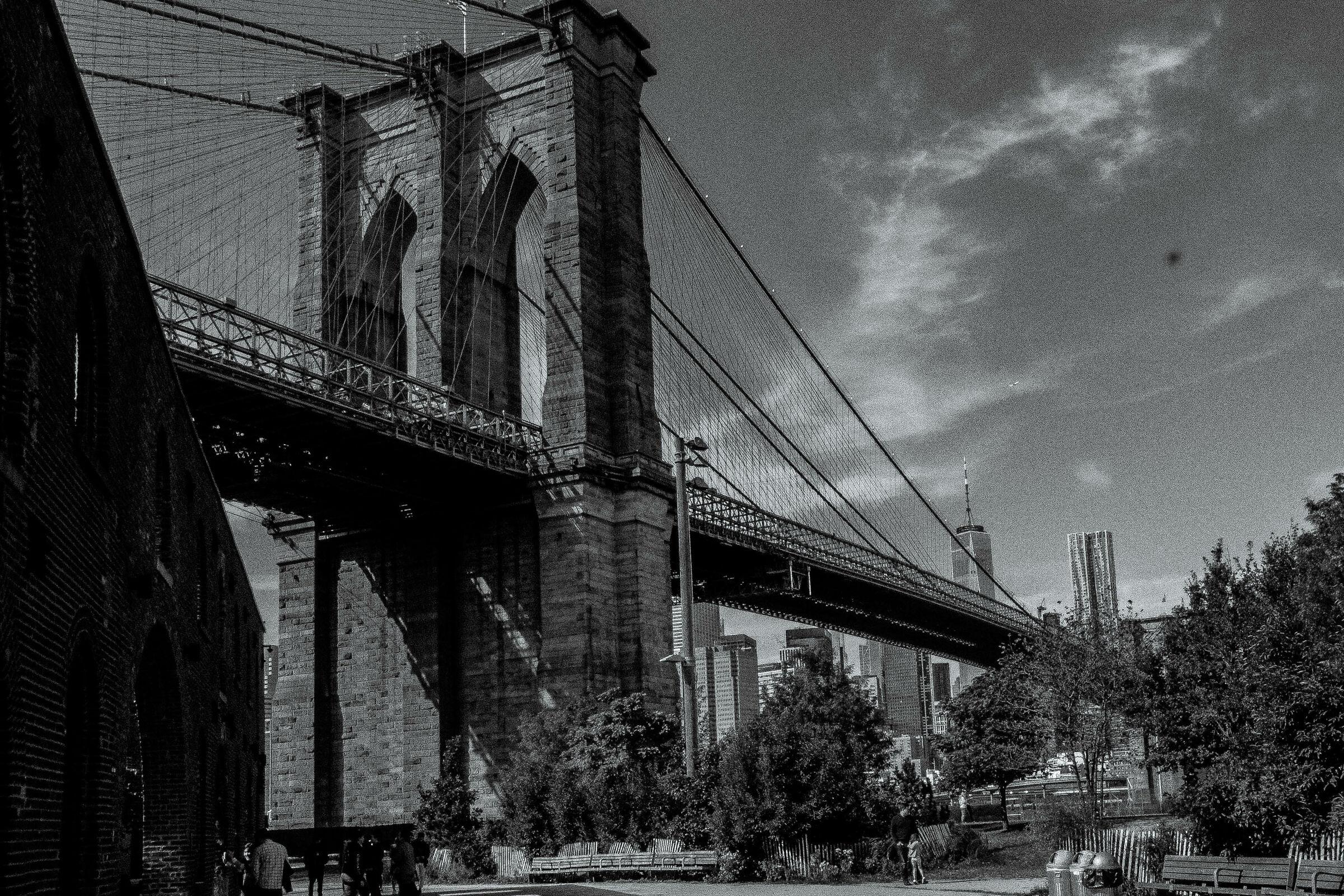 brooklyn bridge b/n...