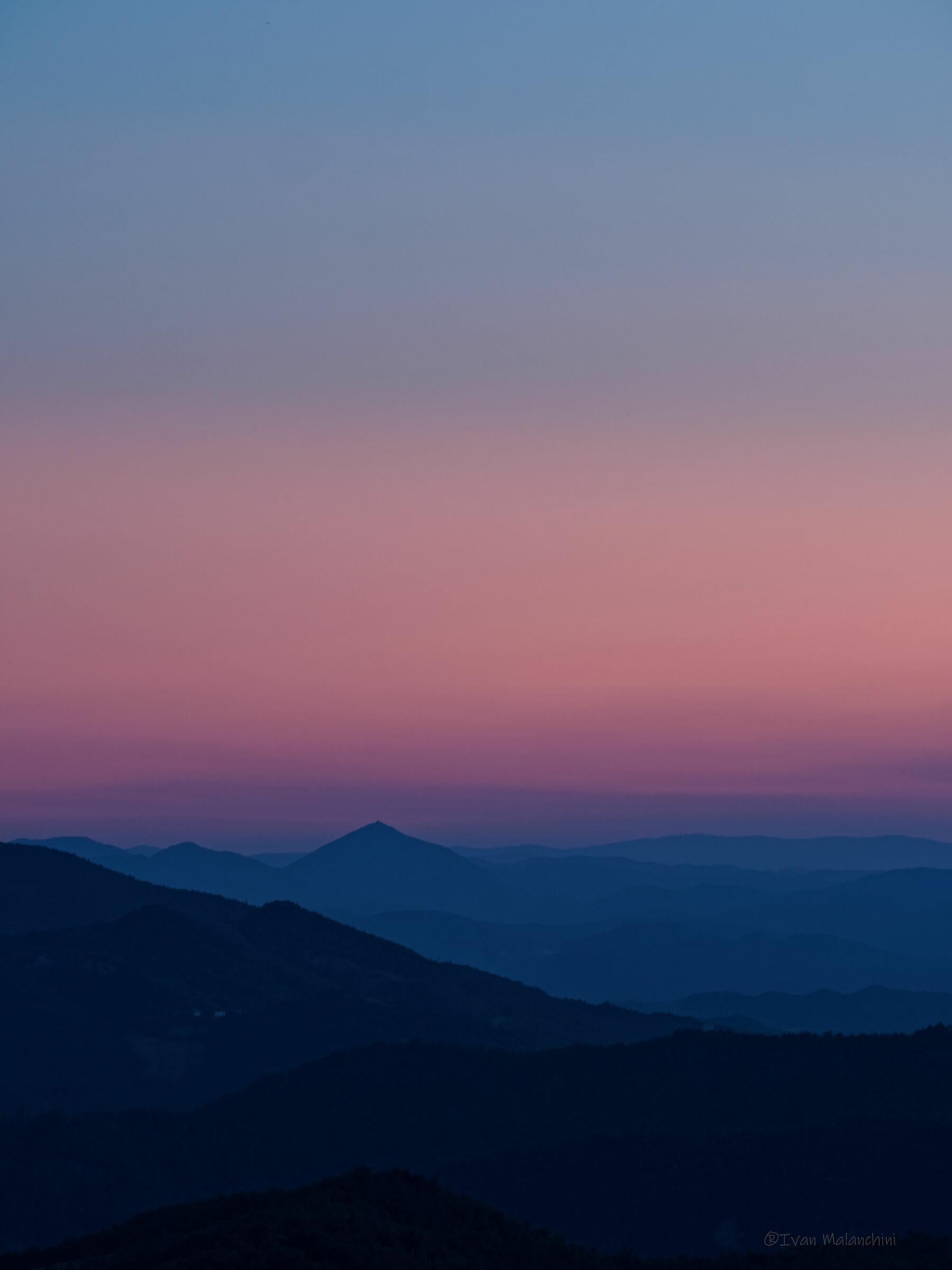 Tramonto dal monte Vallassa...