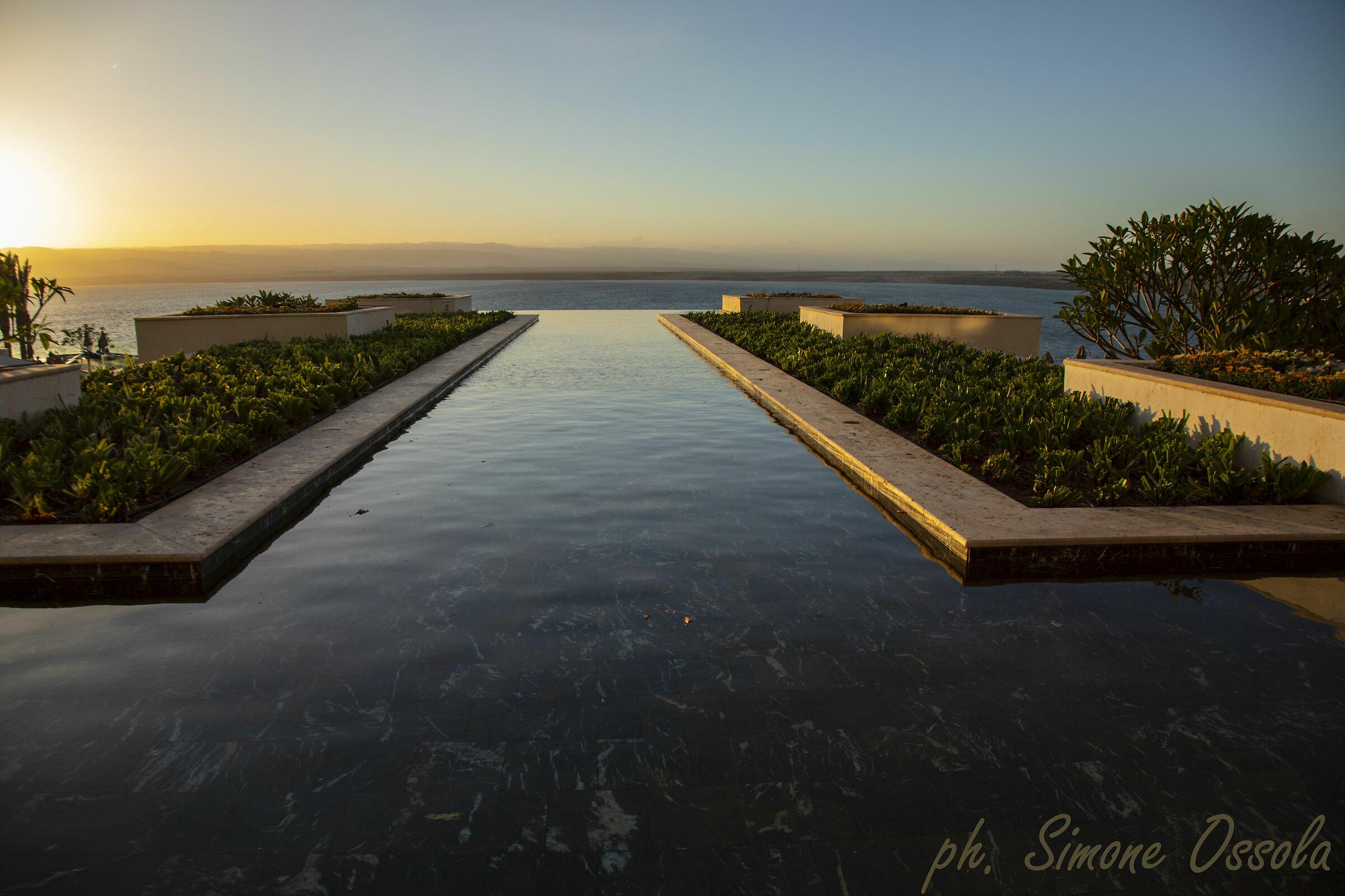 Sunset on the Dead Sea...