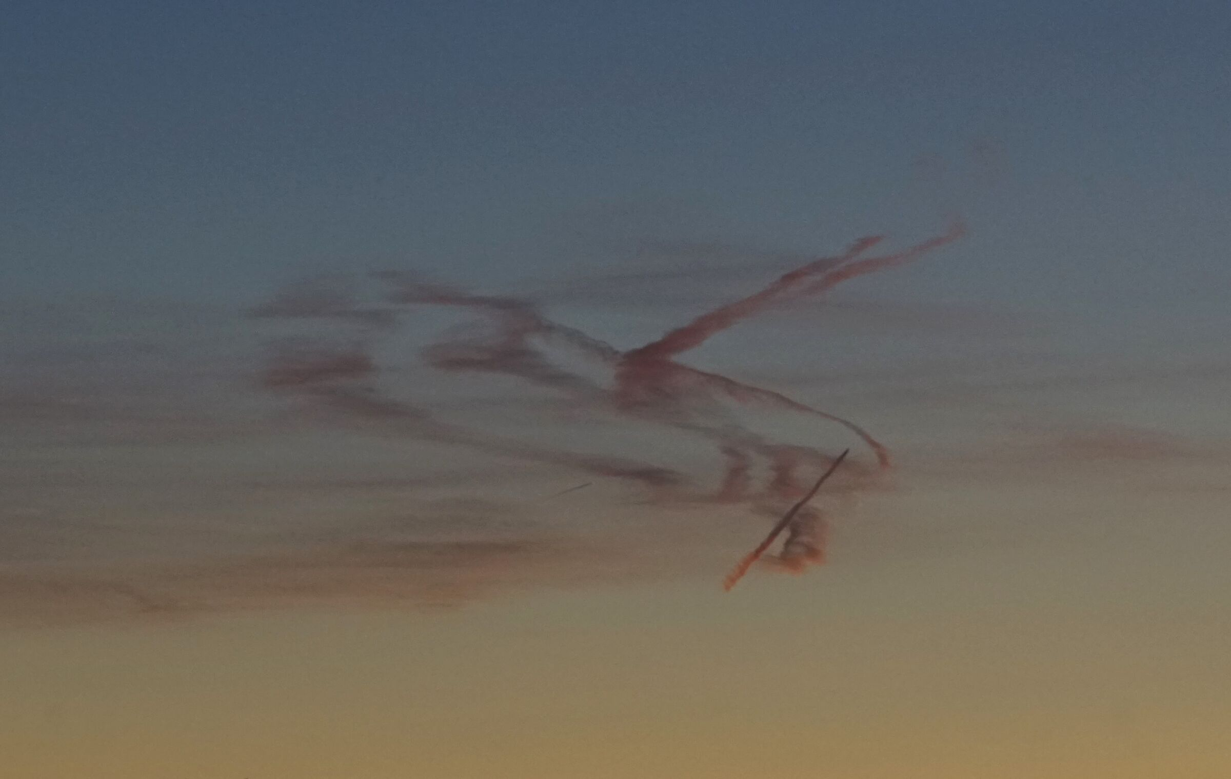 Bizarre lines on the horizon...