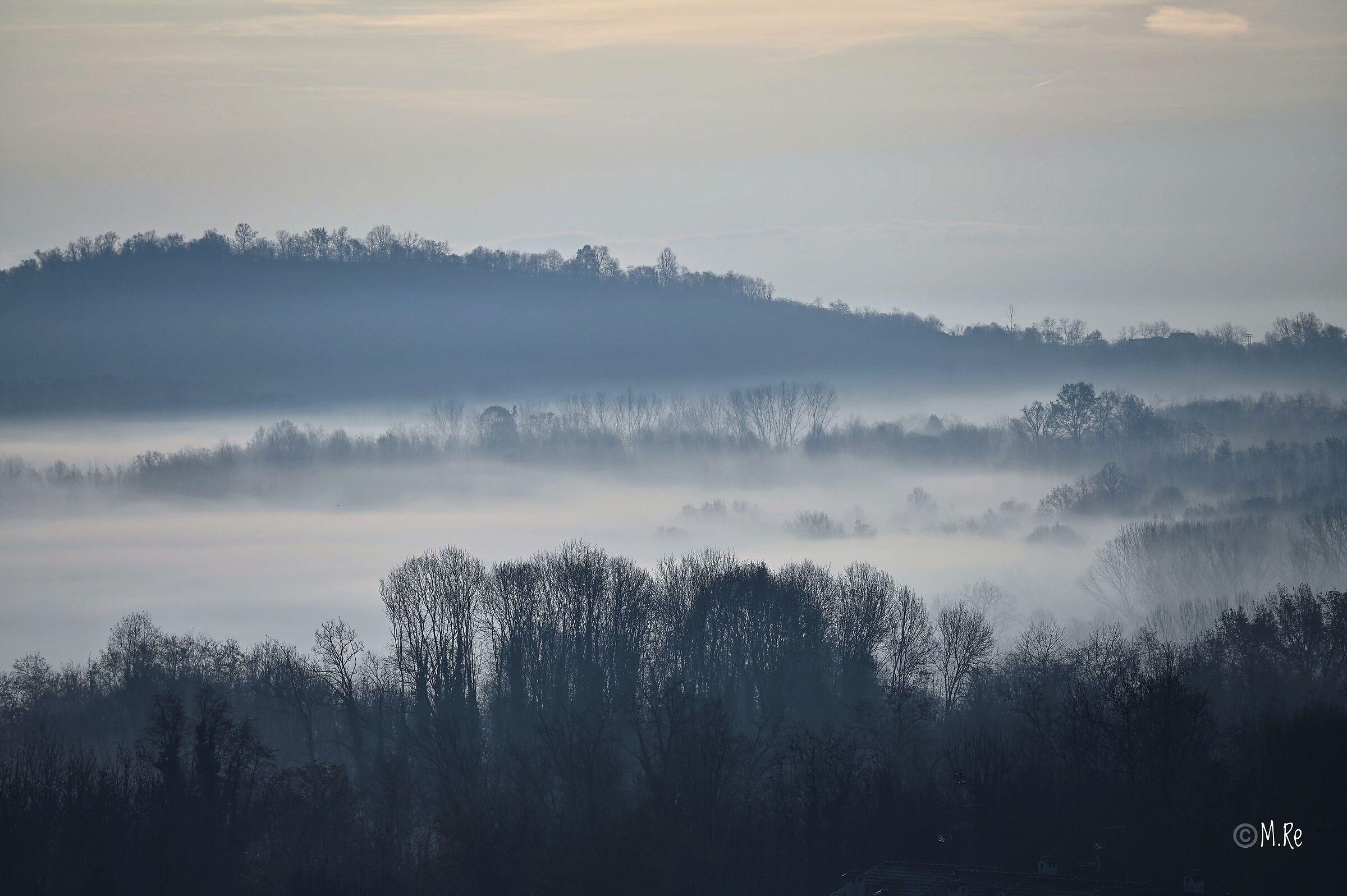 Fog on Lake Candia...