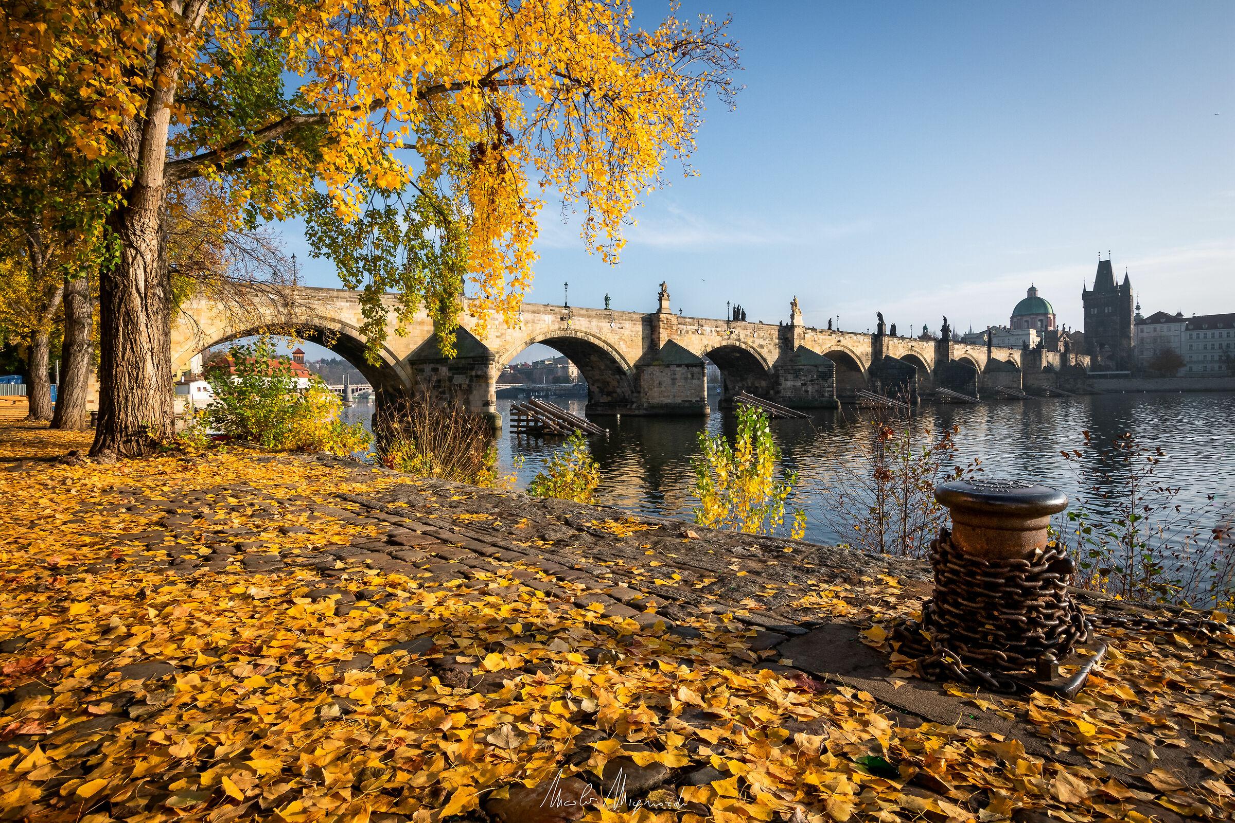 Prague dressed in autumn - Charles Bridge...