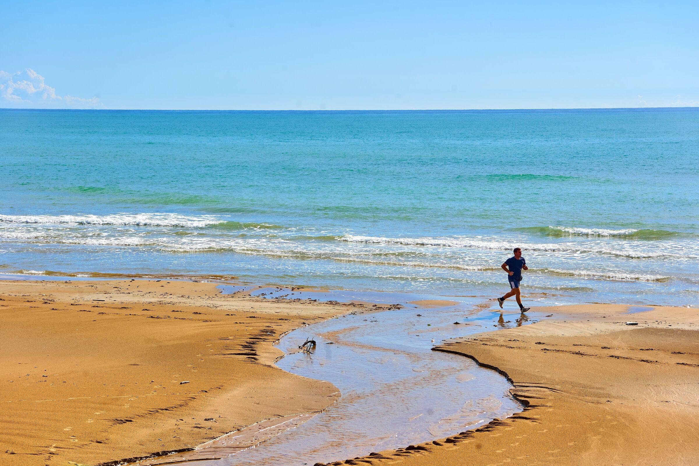 Spiaggia di Tre Fontane, dopo la pioggia...