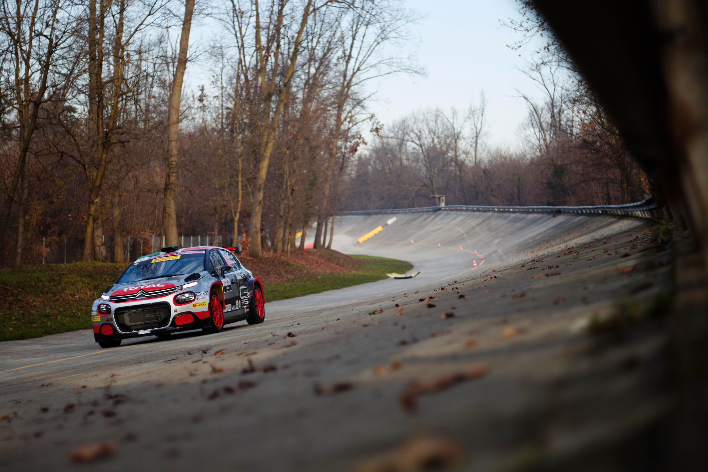 Luca Rossetti at the Monza rally show...