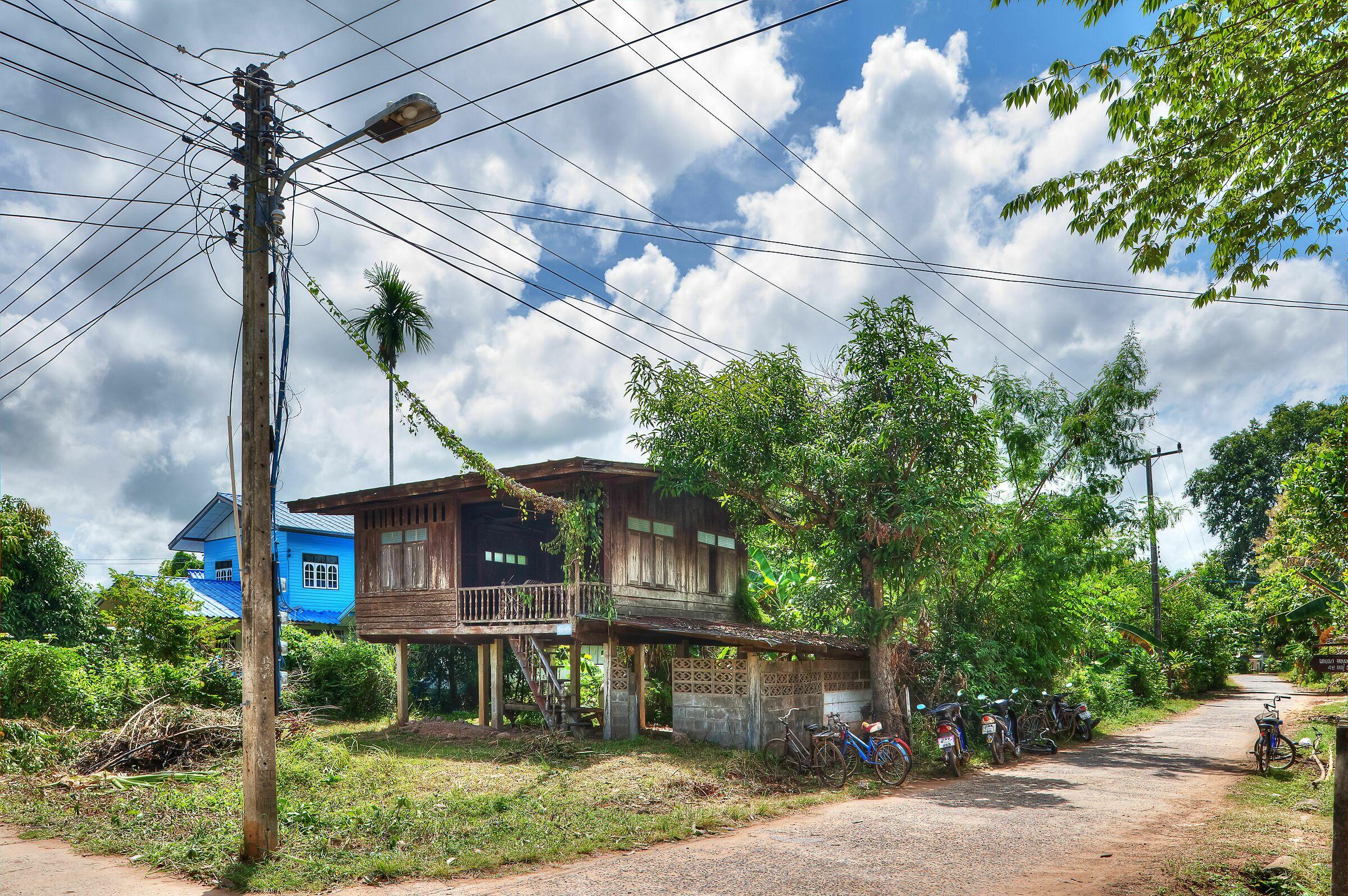 Thai Village; Maha Chana Chai, Thailand...