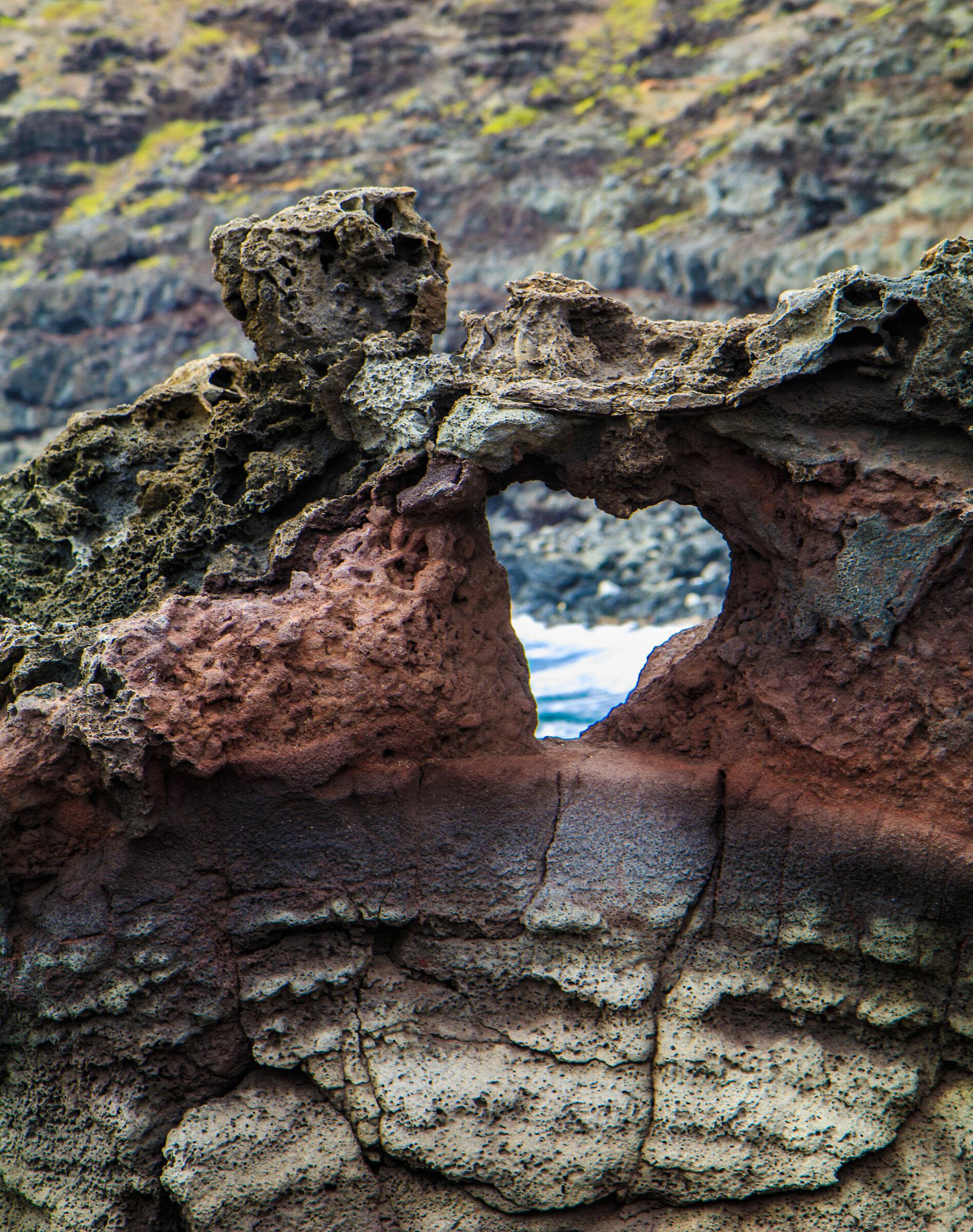 Heart-shaped Rock along the Higway 30, Maui...