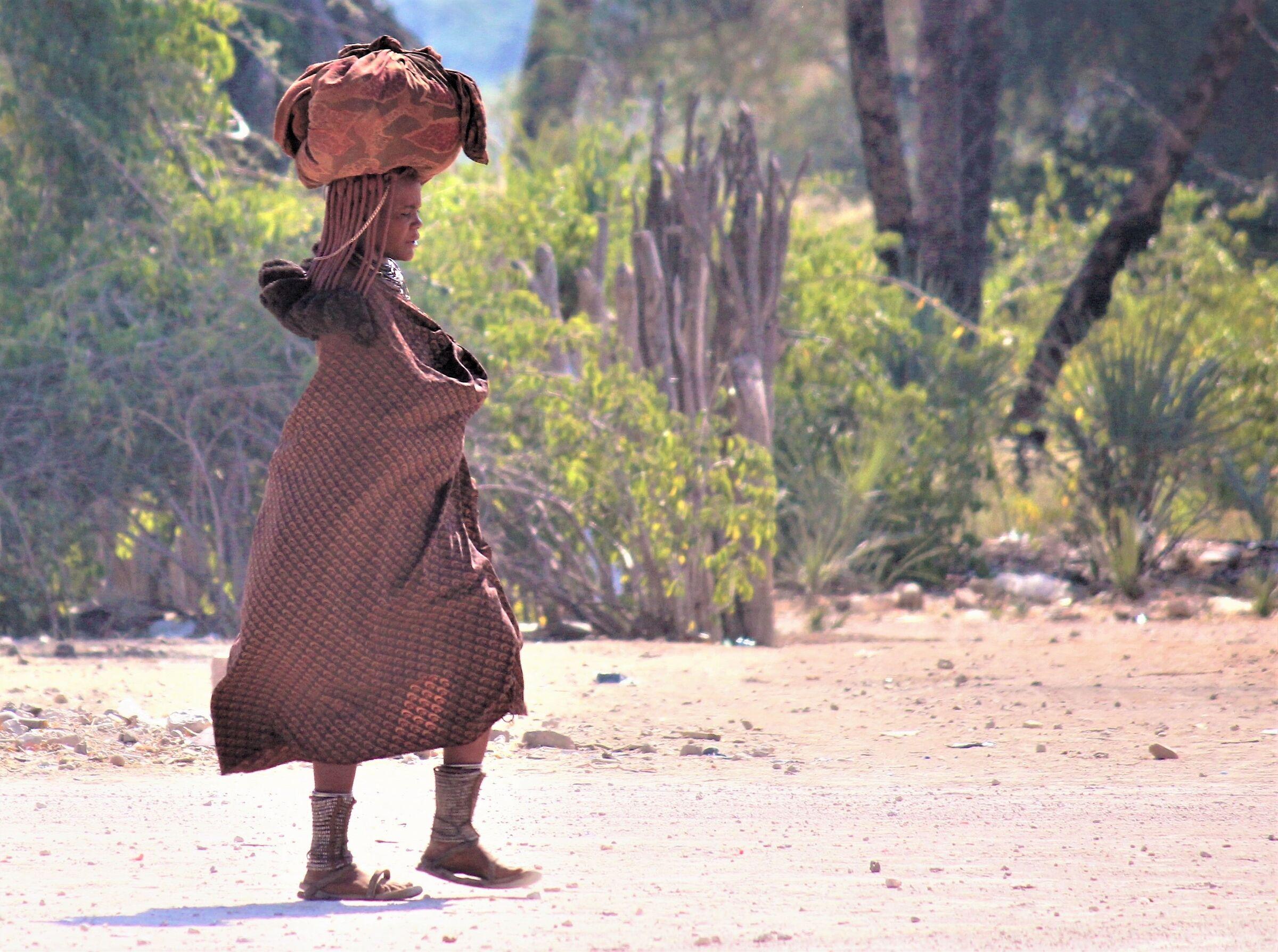 On a dusty road in Kaokoland...