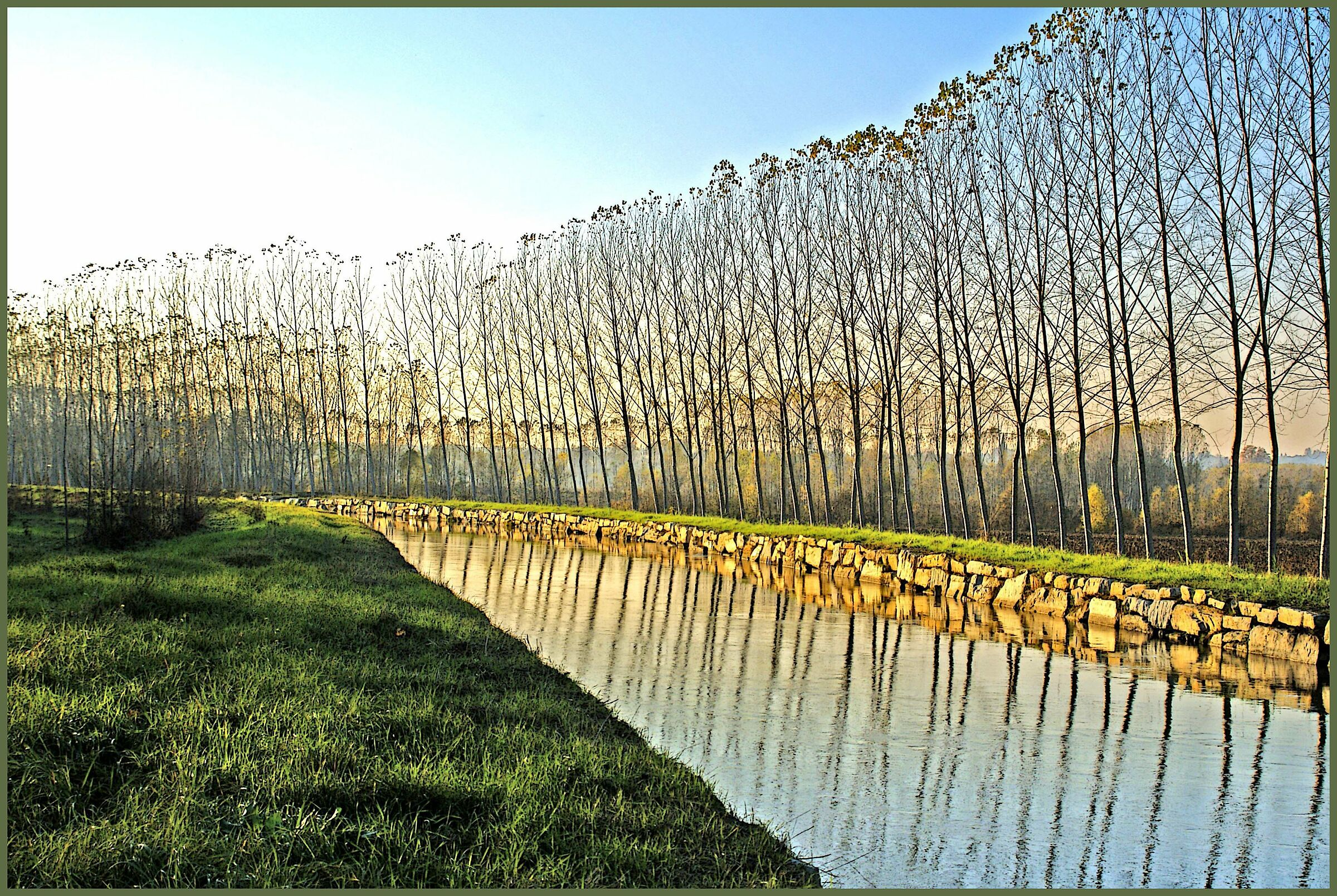 Canal water ...