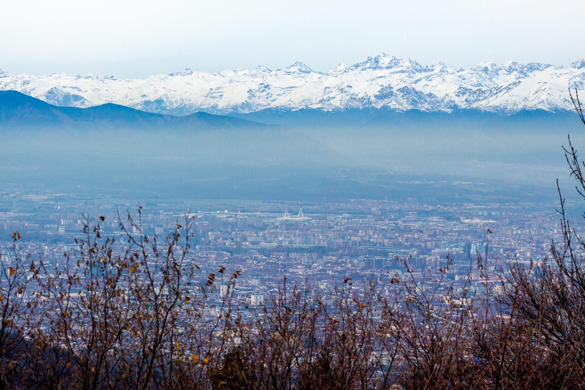 """Torino vista dal """"faro della vittoria""""..."""