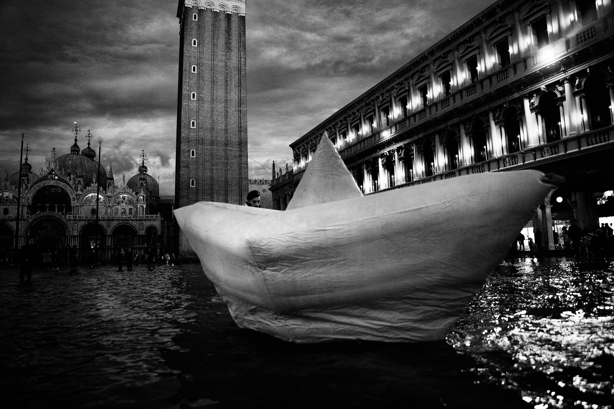 Paper boat...