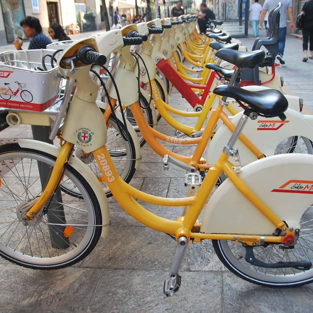 The Milanese bikes...