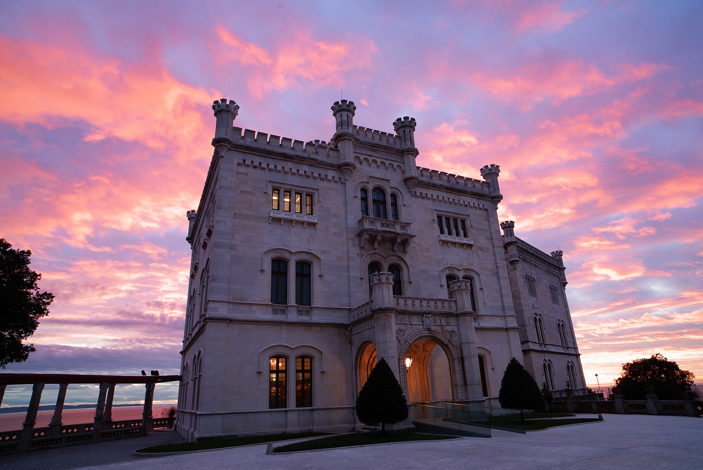 The castle of Miramare at sunset yesterday...