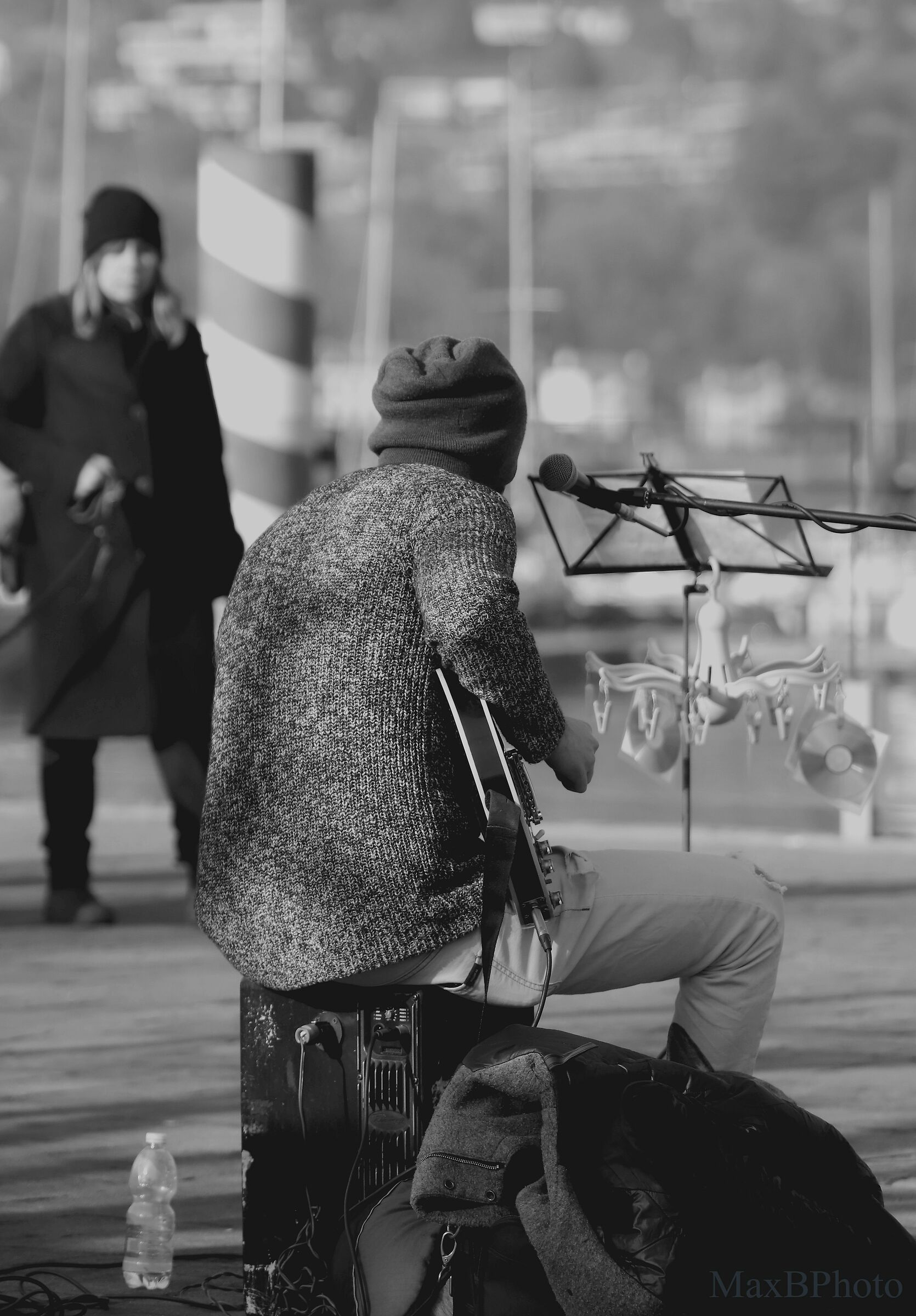 Music in the street...