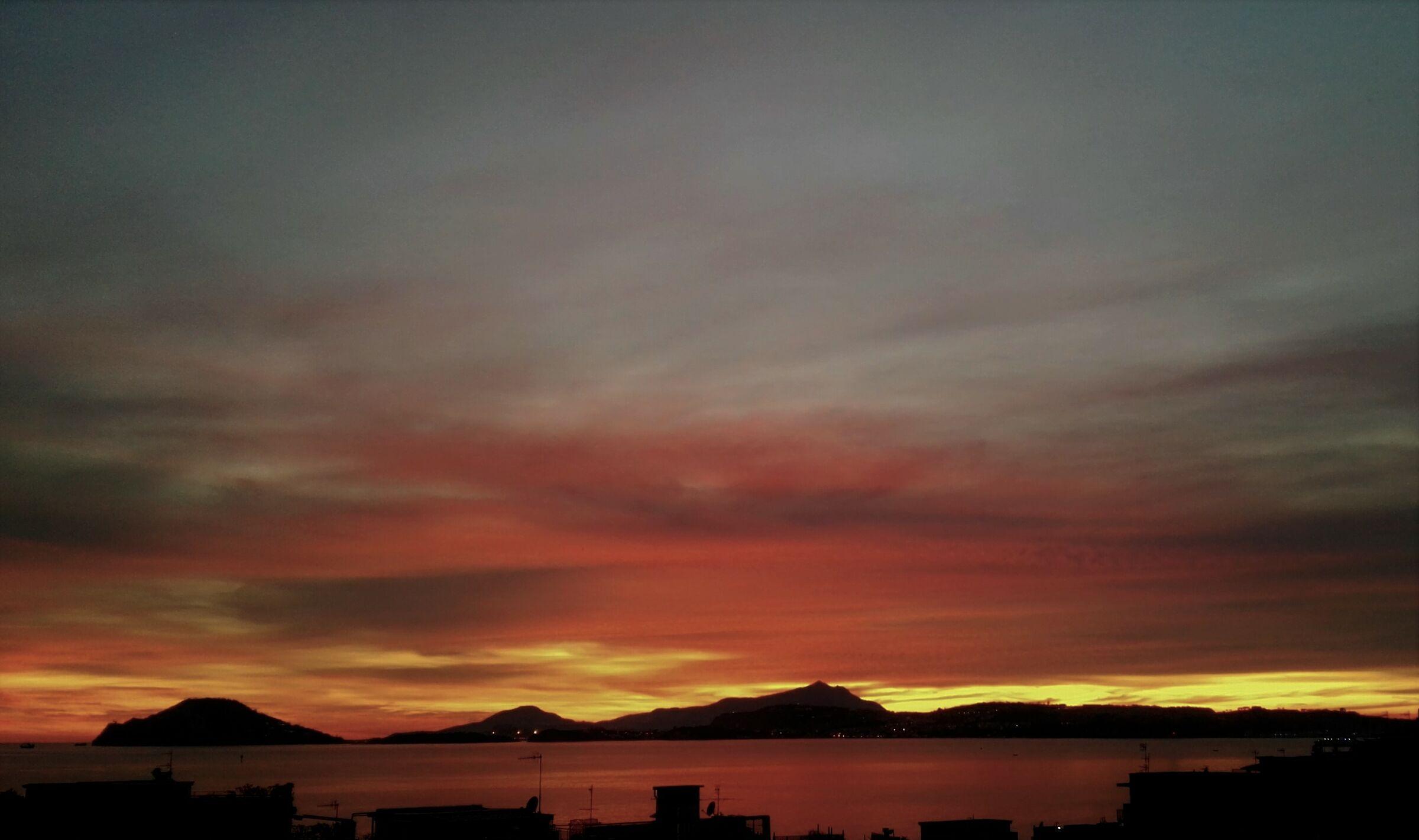 tramonto, golfo di Pozzuoli...