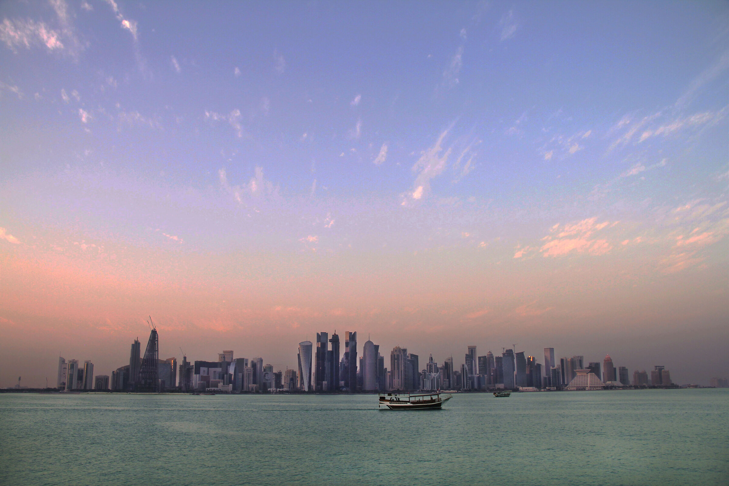 Sunset in Doha...
