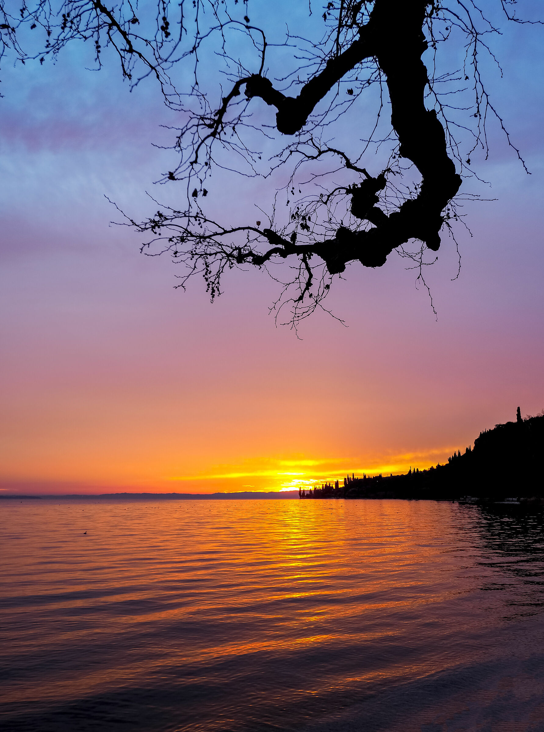 sunset over the lake...