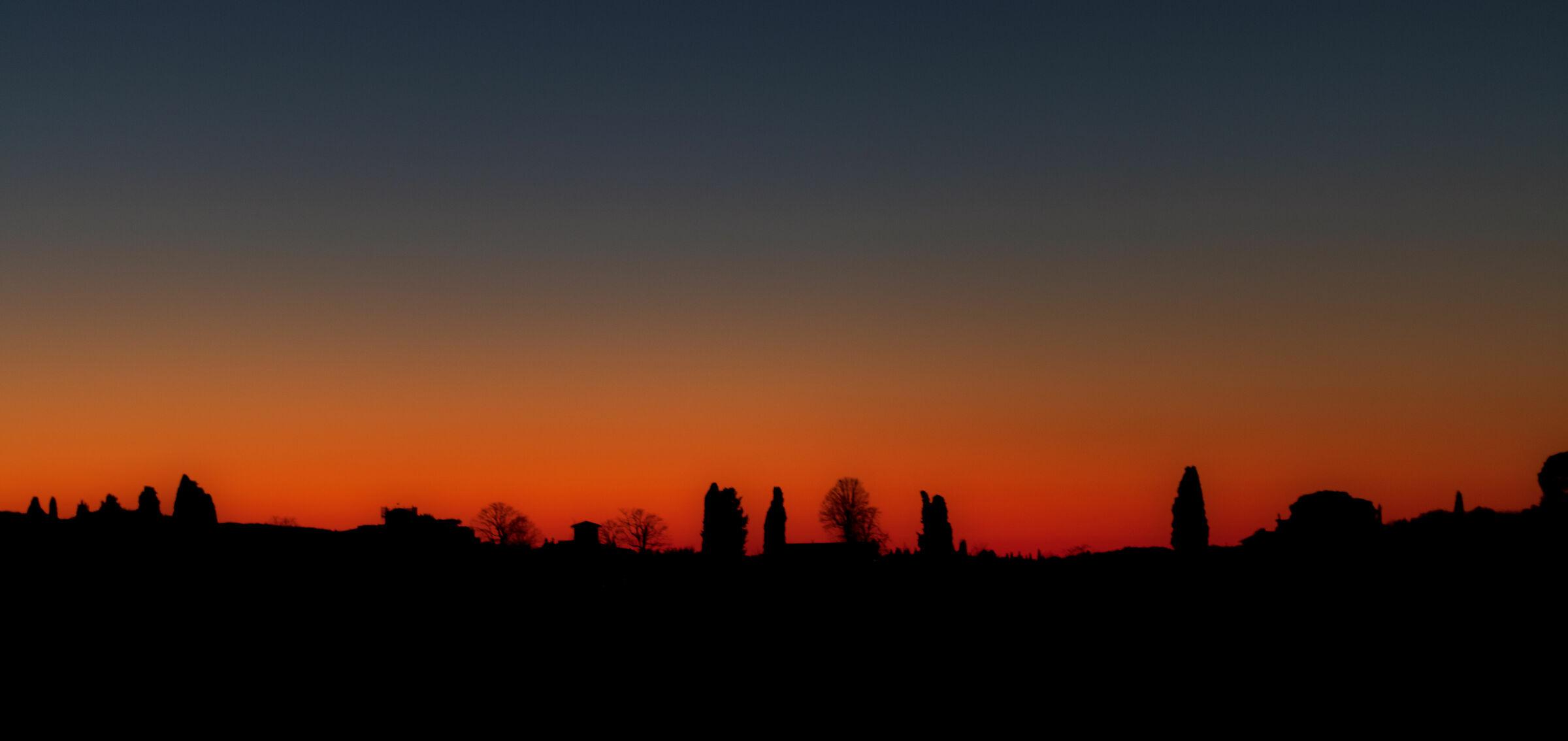 shadows at sunset...