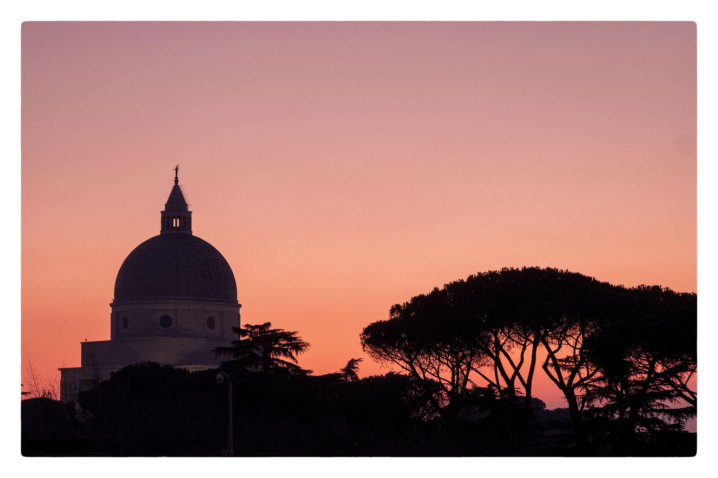 Roman sunset at the euro...