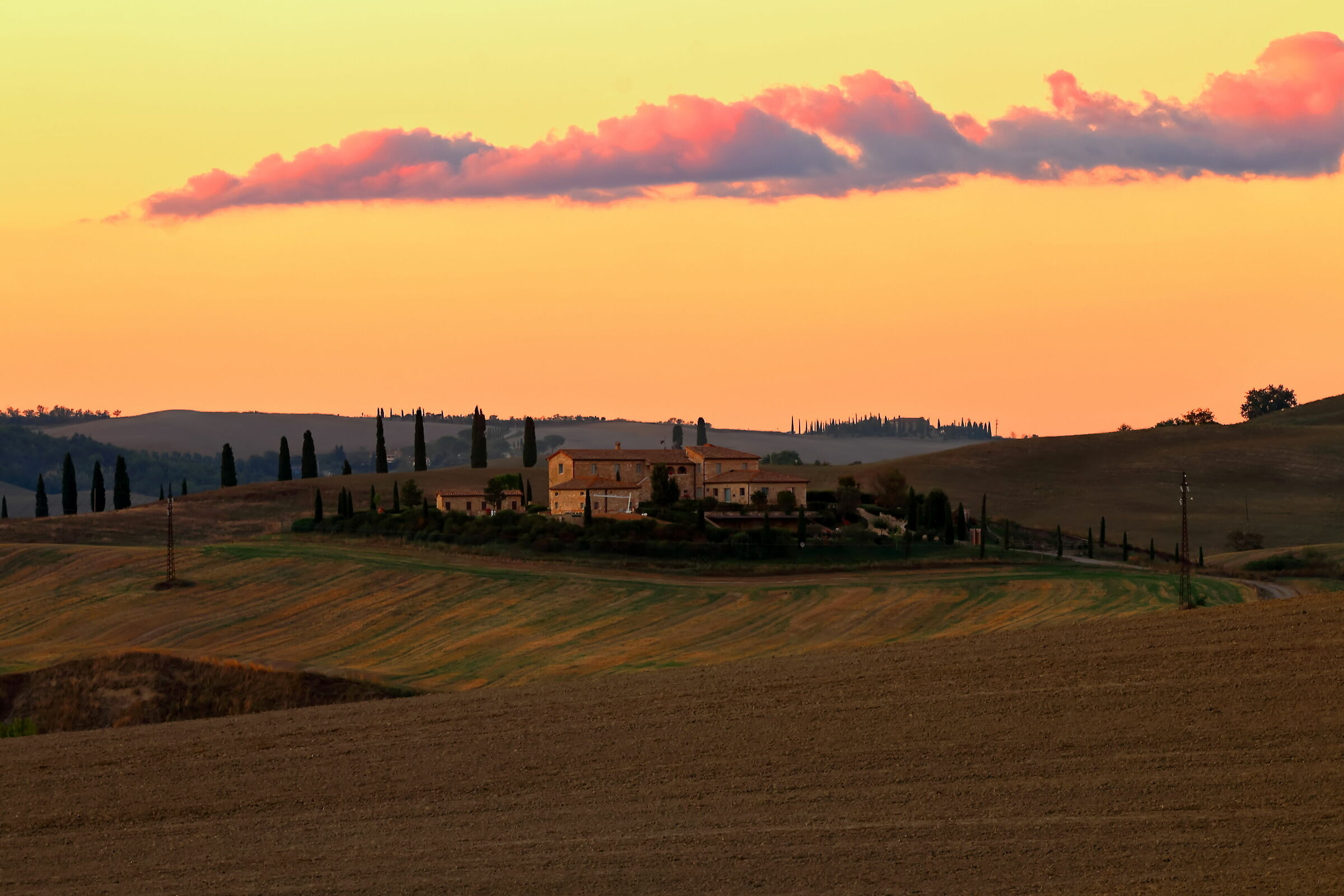 Sunset in Val d'Orcia...