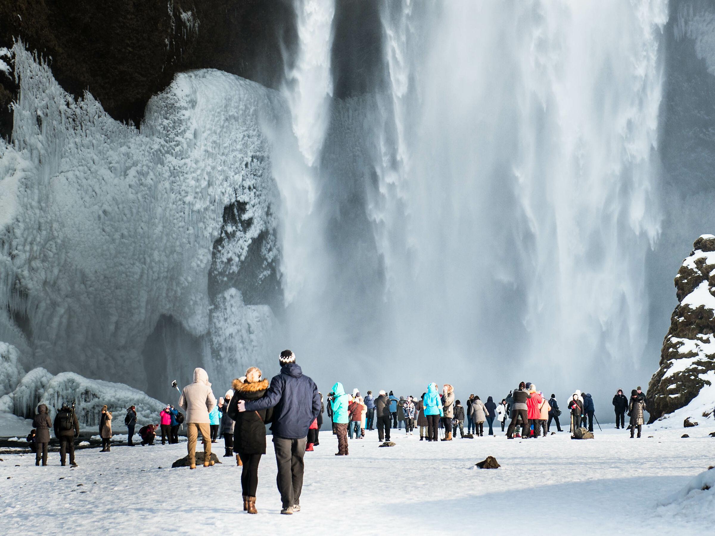 In ammirazione della cascata...