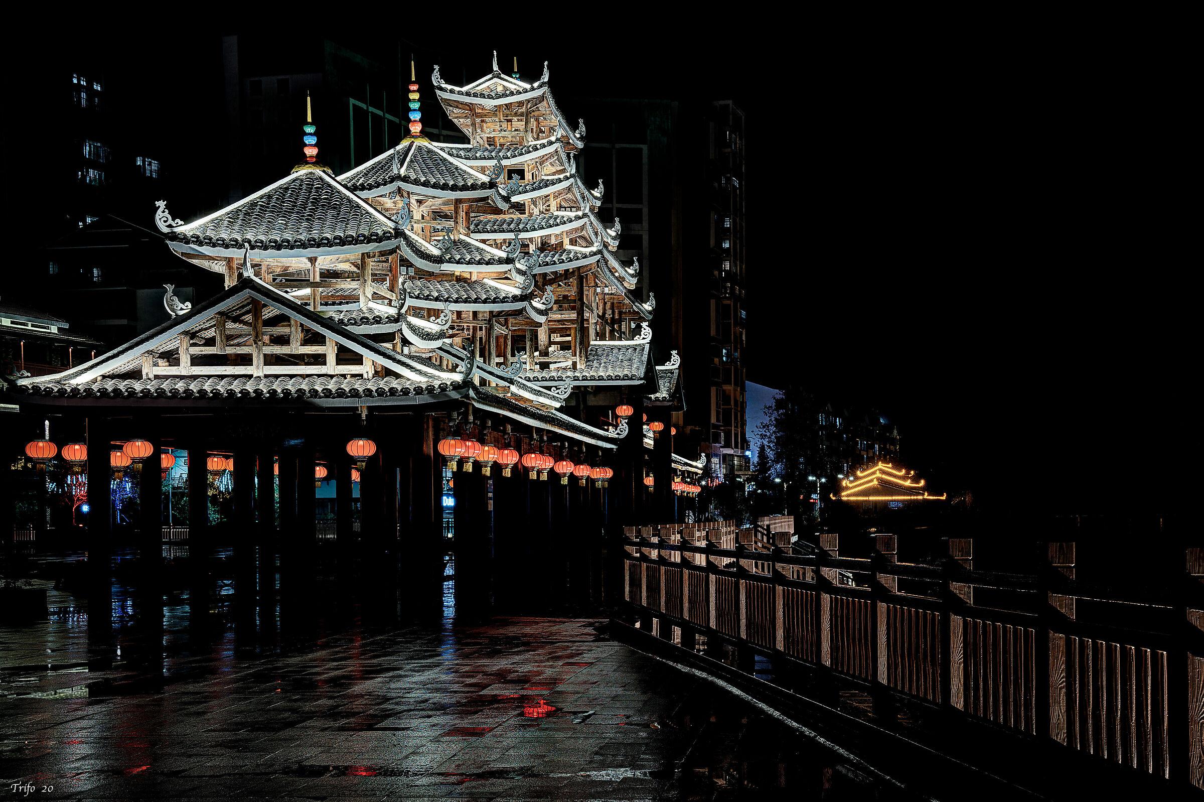 Night lights in Guizhou ........