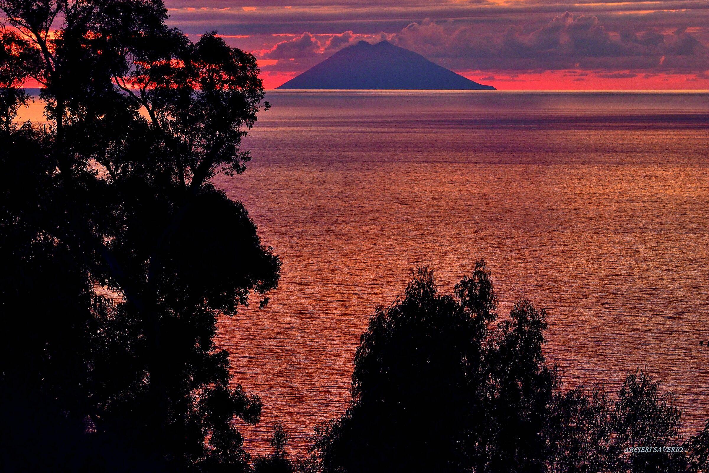 Strombolian sunset...