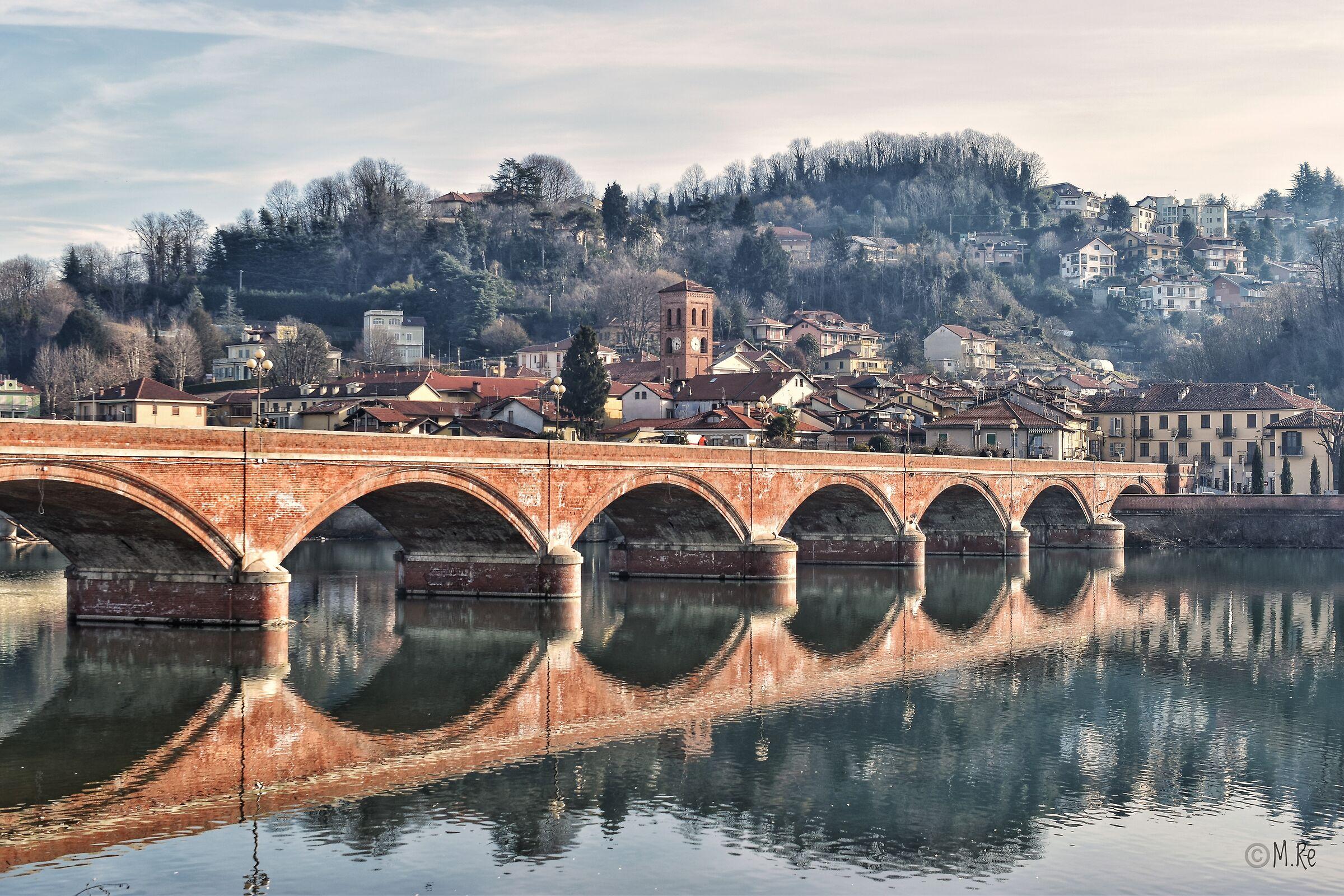 Bridge over the Po in San Mauro Torinese...