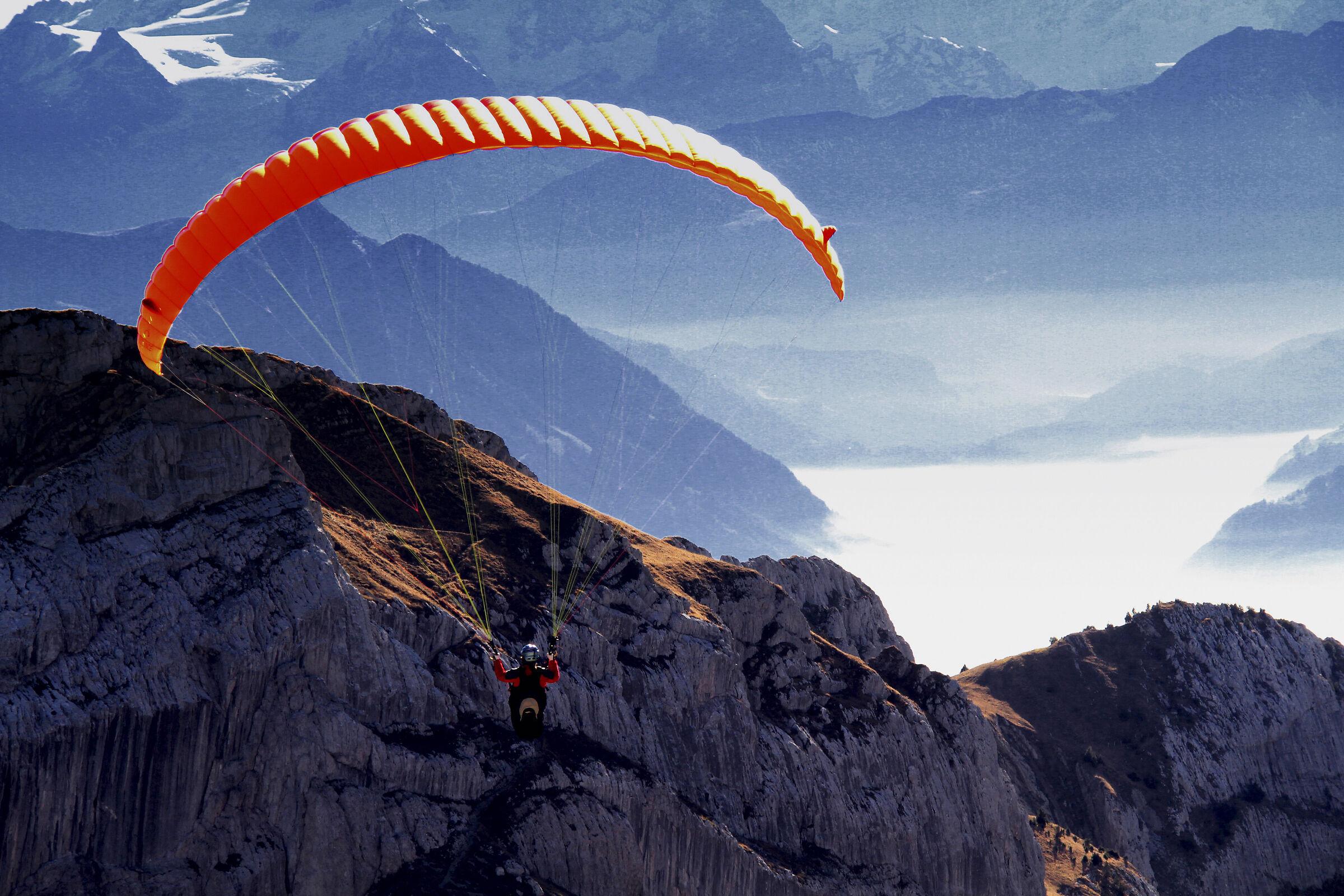 Paragliding on Mount Pilatus...