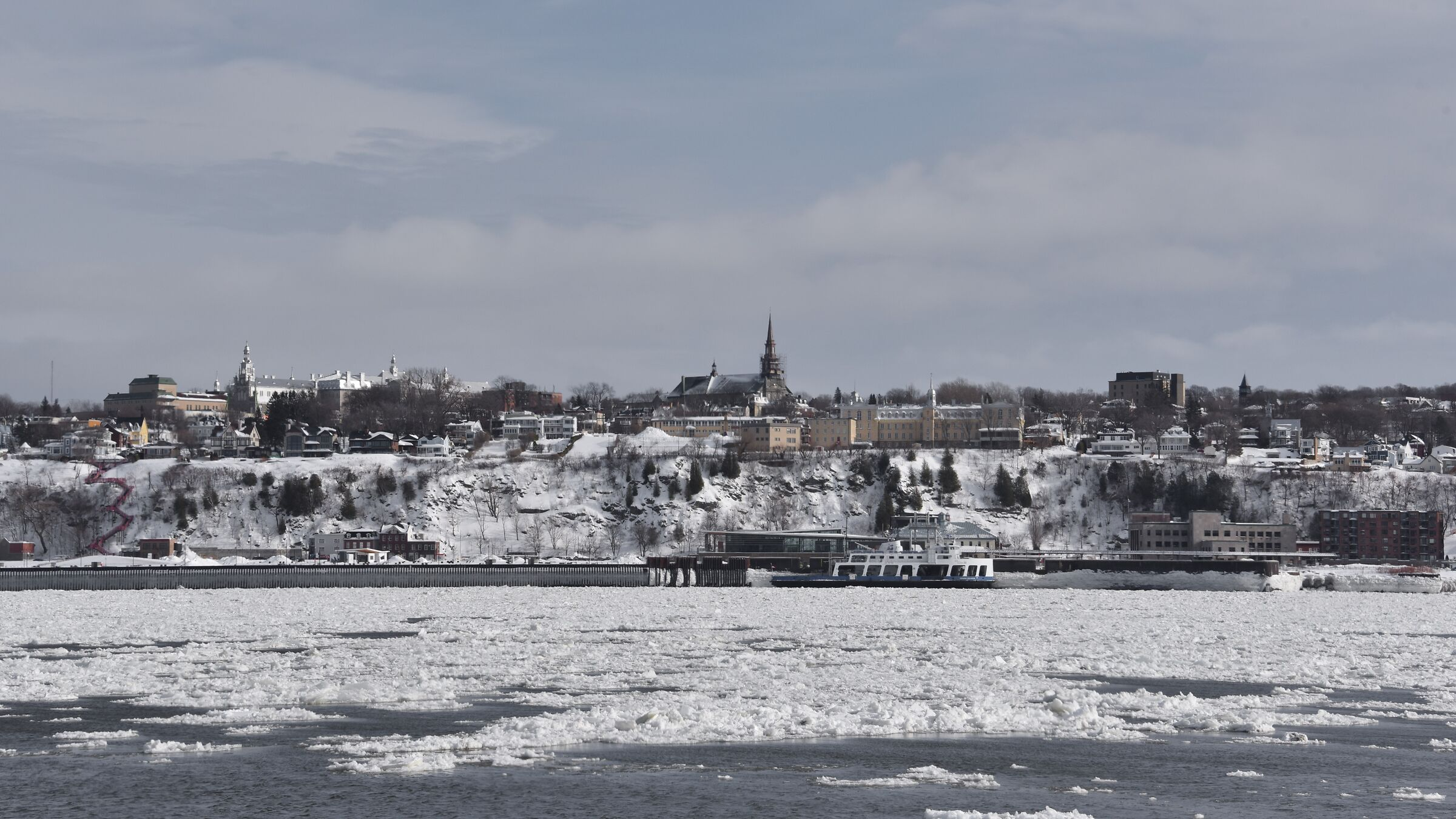 The winter cold of the season in Quebec...