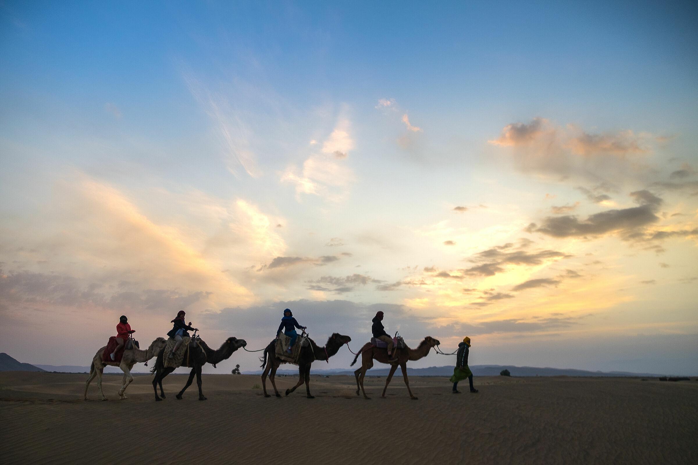 Sunset over the Merzouga Desert...