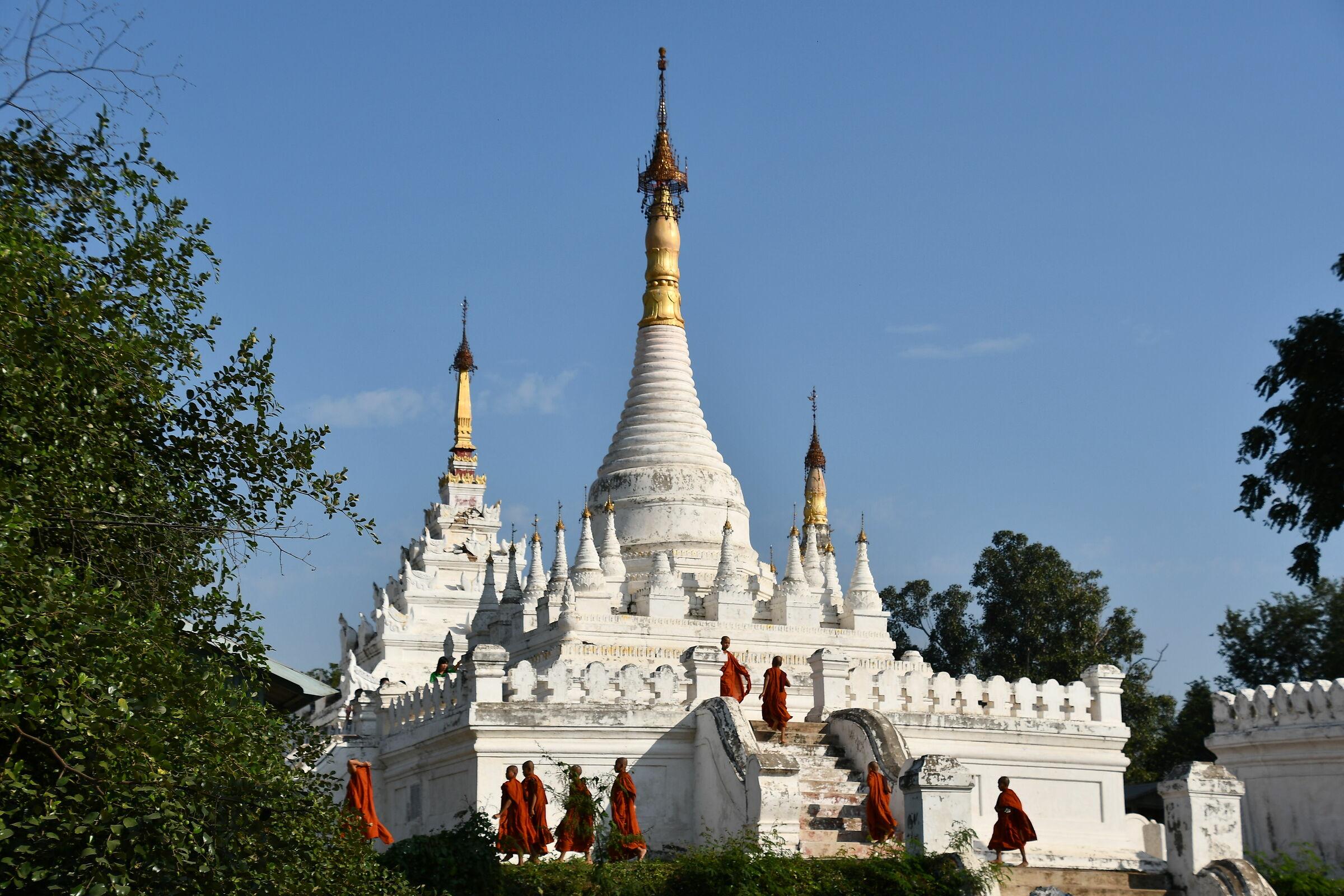 Pagoda and Monks...