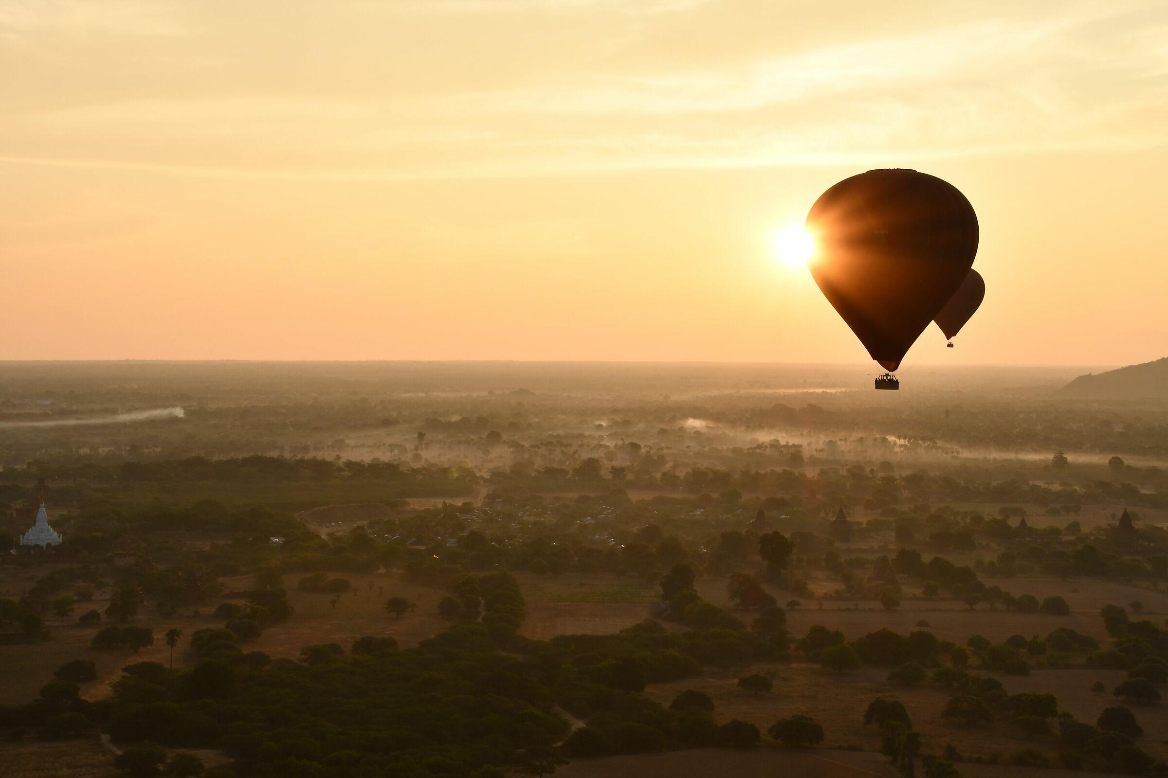 Hot air balloon sunrise on Bagan...