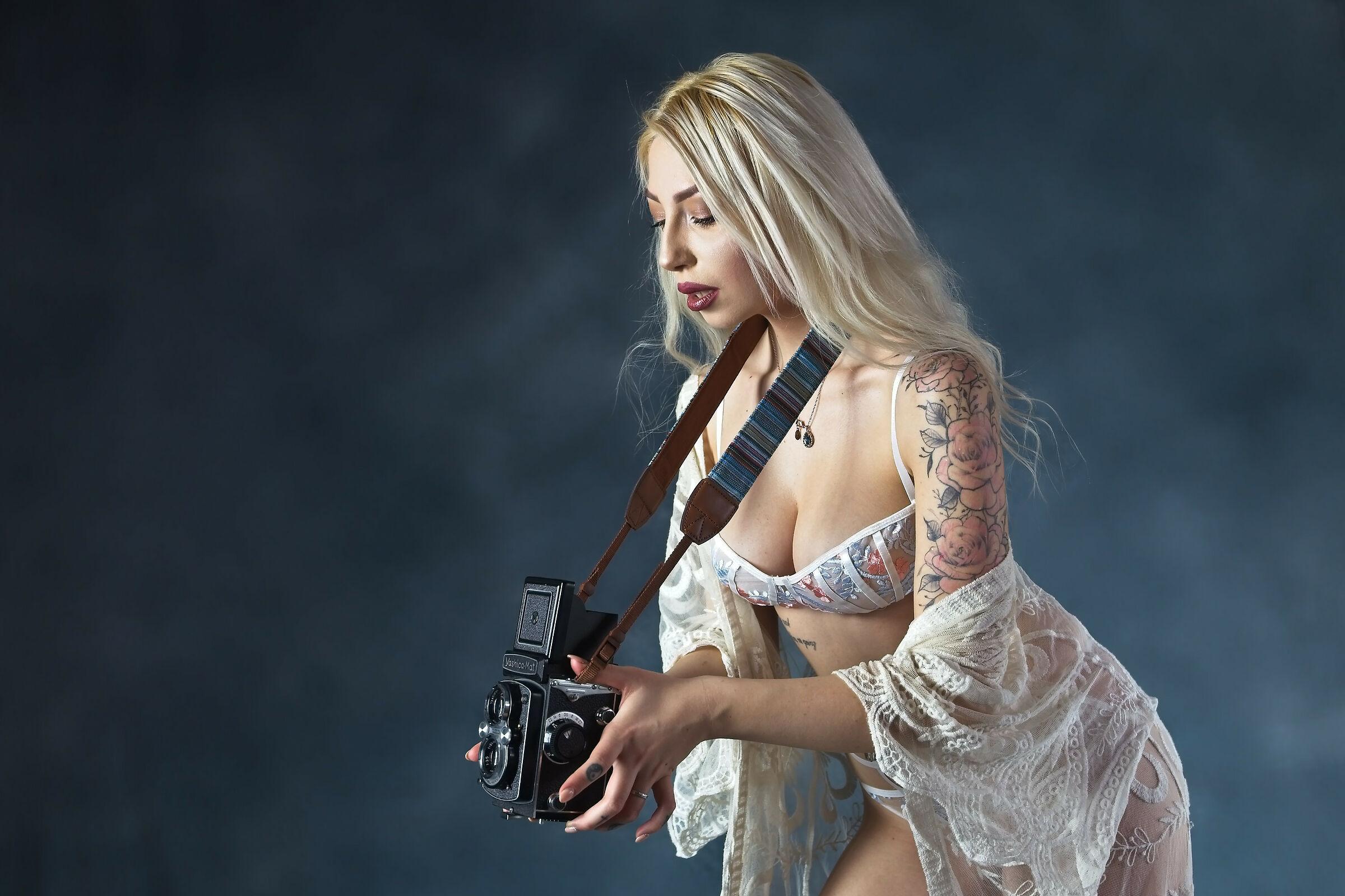 La bella fotografa...